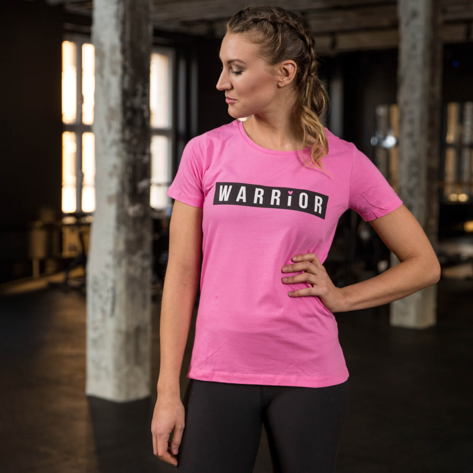 Healthy Madame Warrior T-Shirt - Pink - S