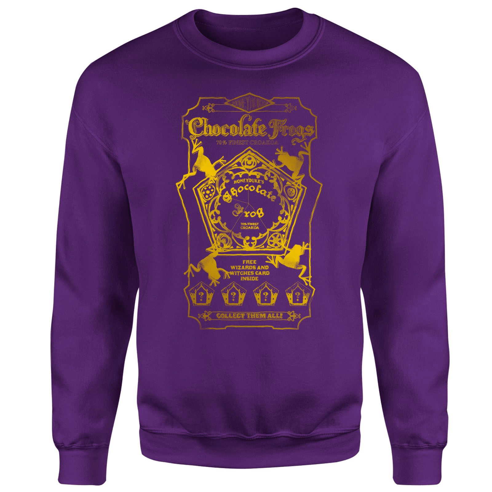 Harry Potter Honeydukes Chocolate Frogs Sweatshirt - Purple