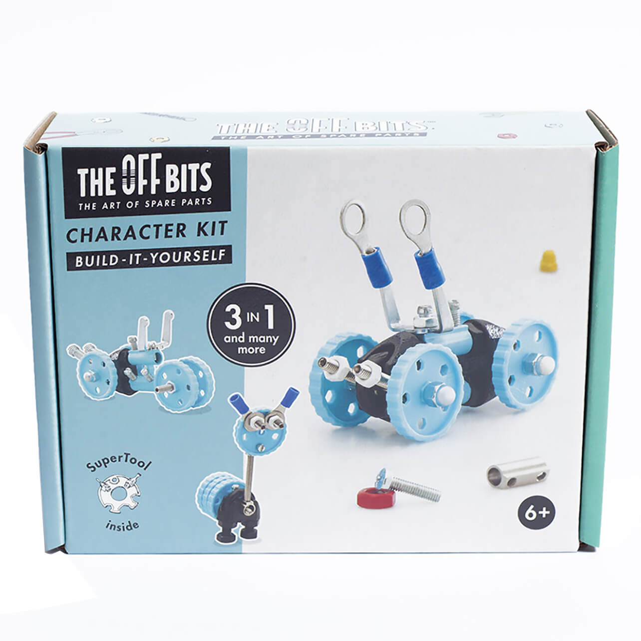 The Off Bits Robot Kit - Blue Car