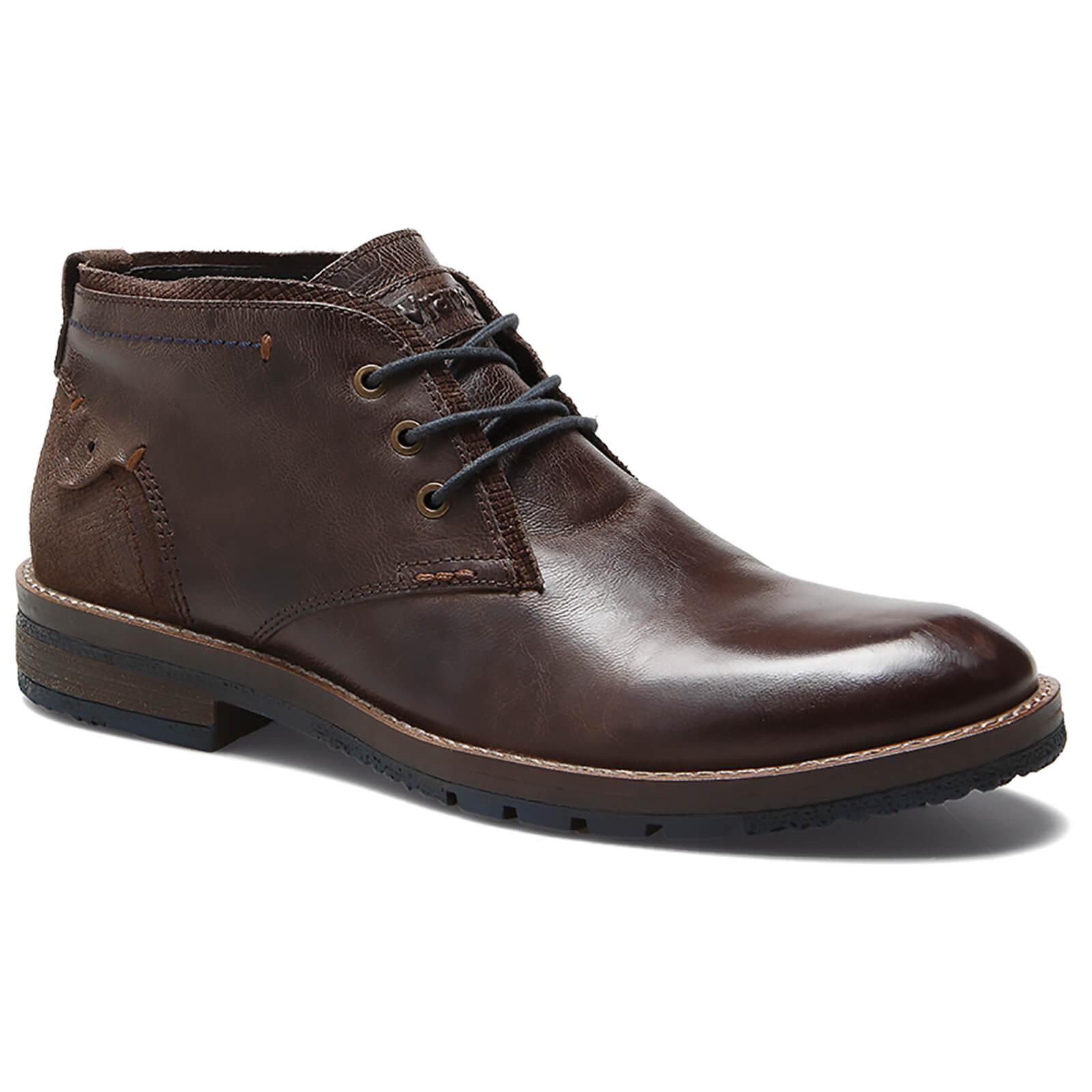 73a9996d5dc Wrangler Men's Boogie Leather Desert Boots - Dark Brown