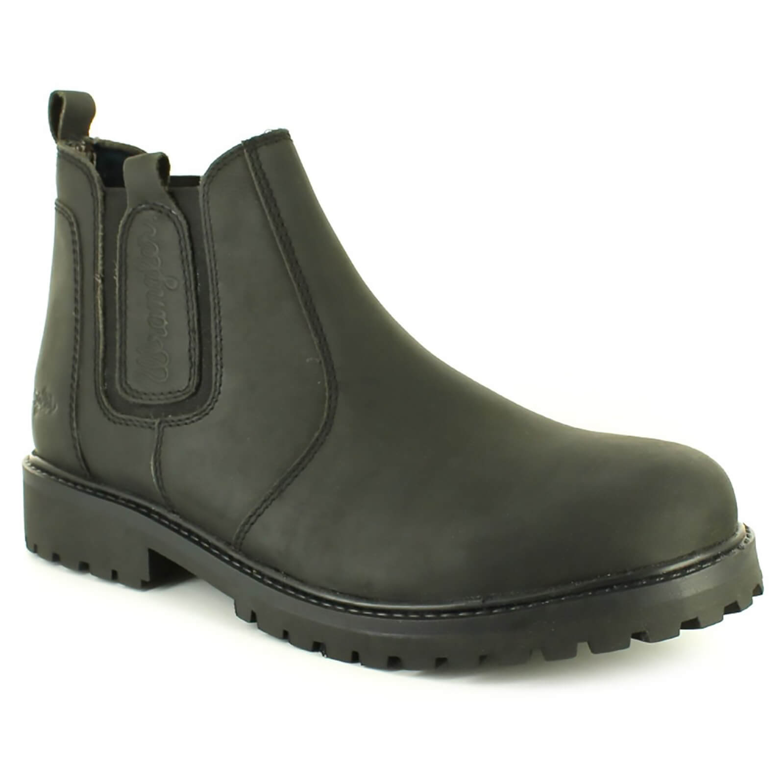 100% genuine shop for luxury first rate Wrangler Men's Yuma Leather Chelsea Boots - Black