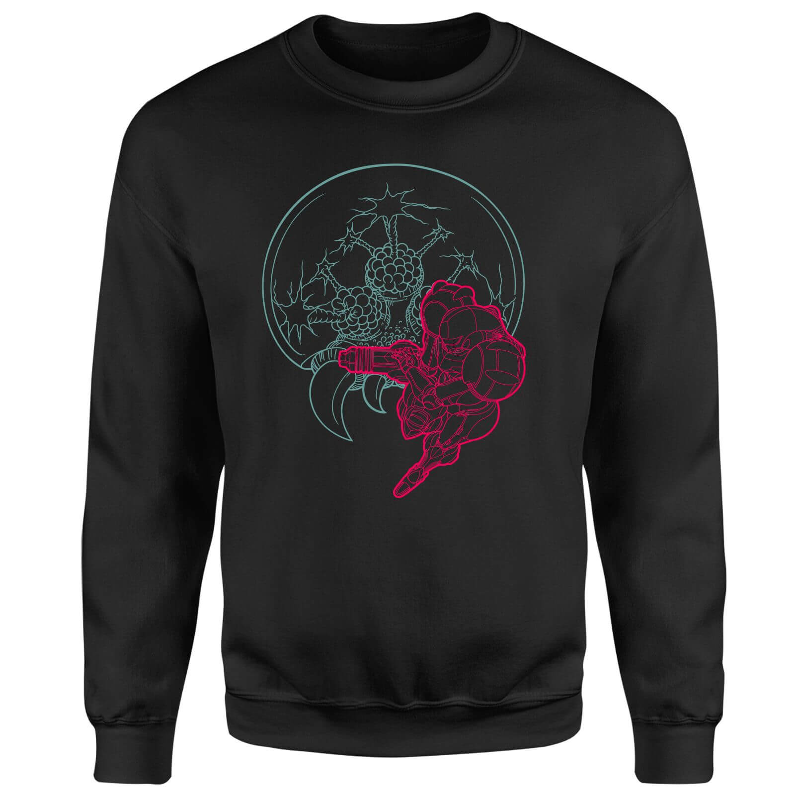 Nintendo Super Metroid Samus And Mother Brain Sweatshirt - Black