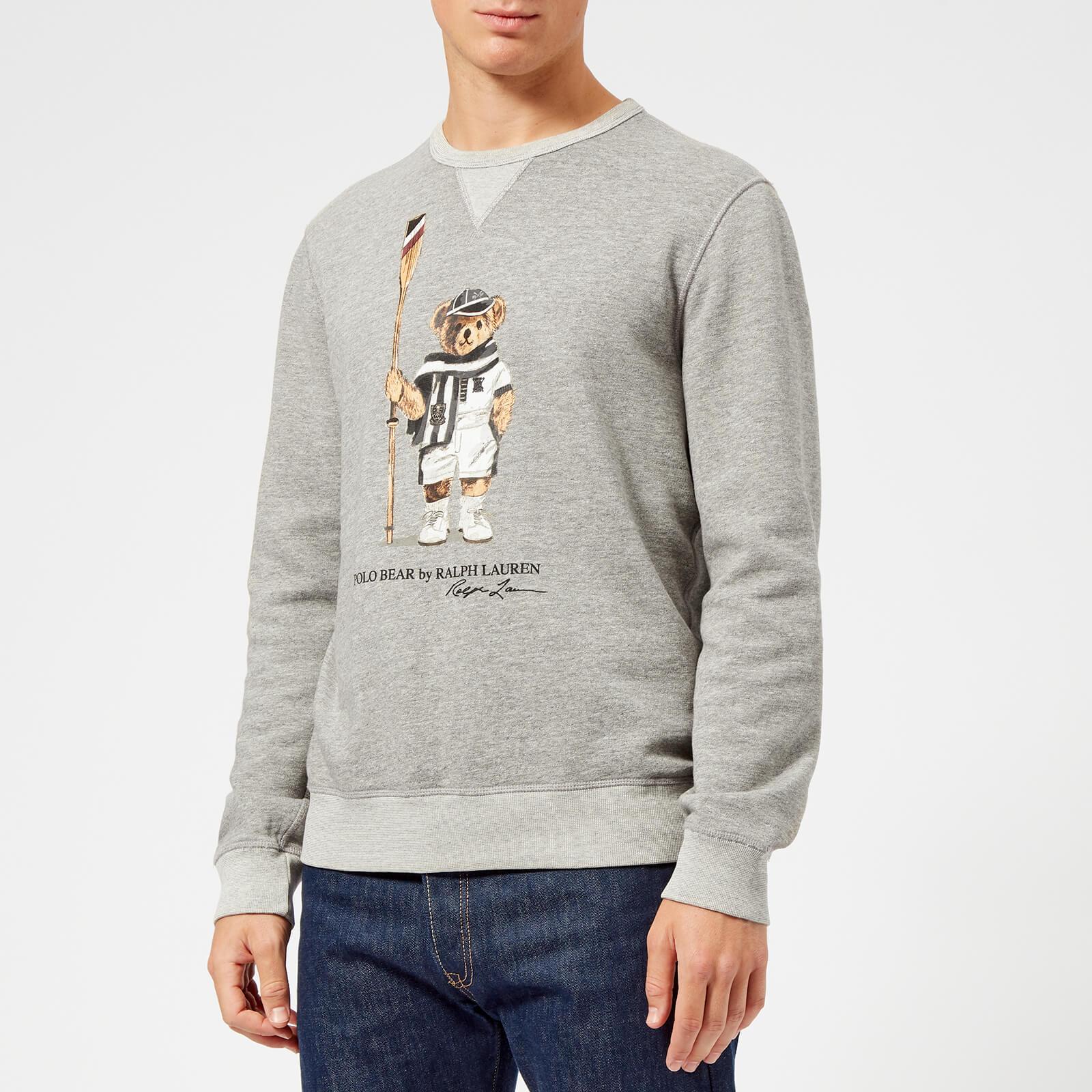 Polo Bear Bronx Sweatshirt Ralph Men's Fleece Heather Vintage Lauren jqLUGpzSMV