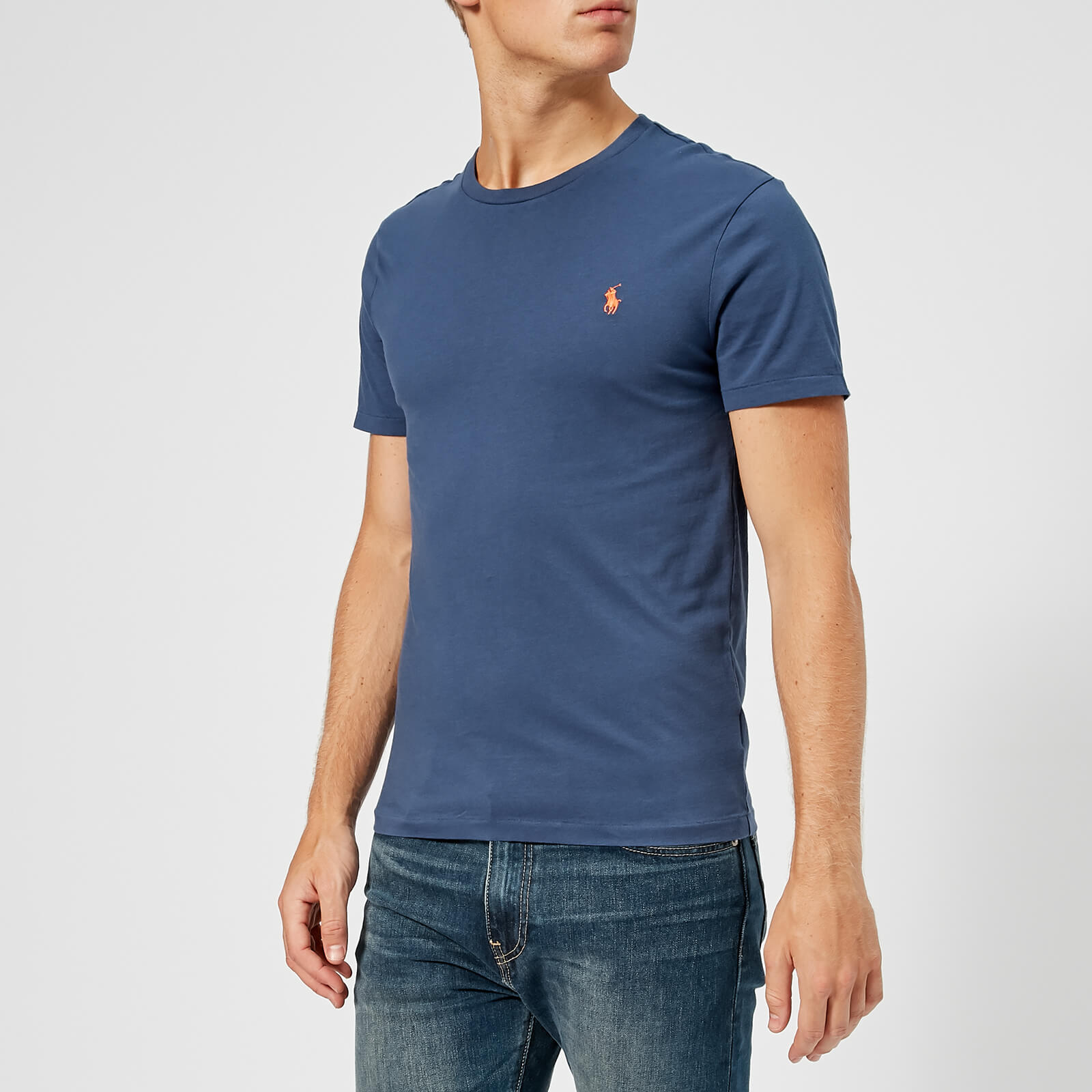6bc073eb Polo Ralph Lauren Men's Custom Slim Fit T-Shirt - Boathouse Navy - Free UK  Delivery over £50