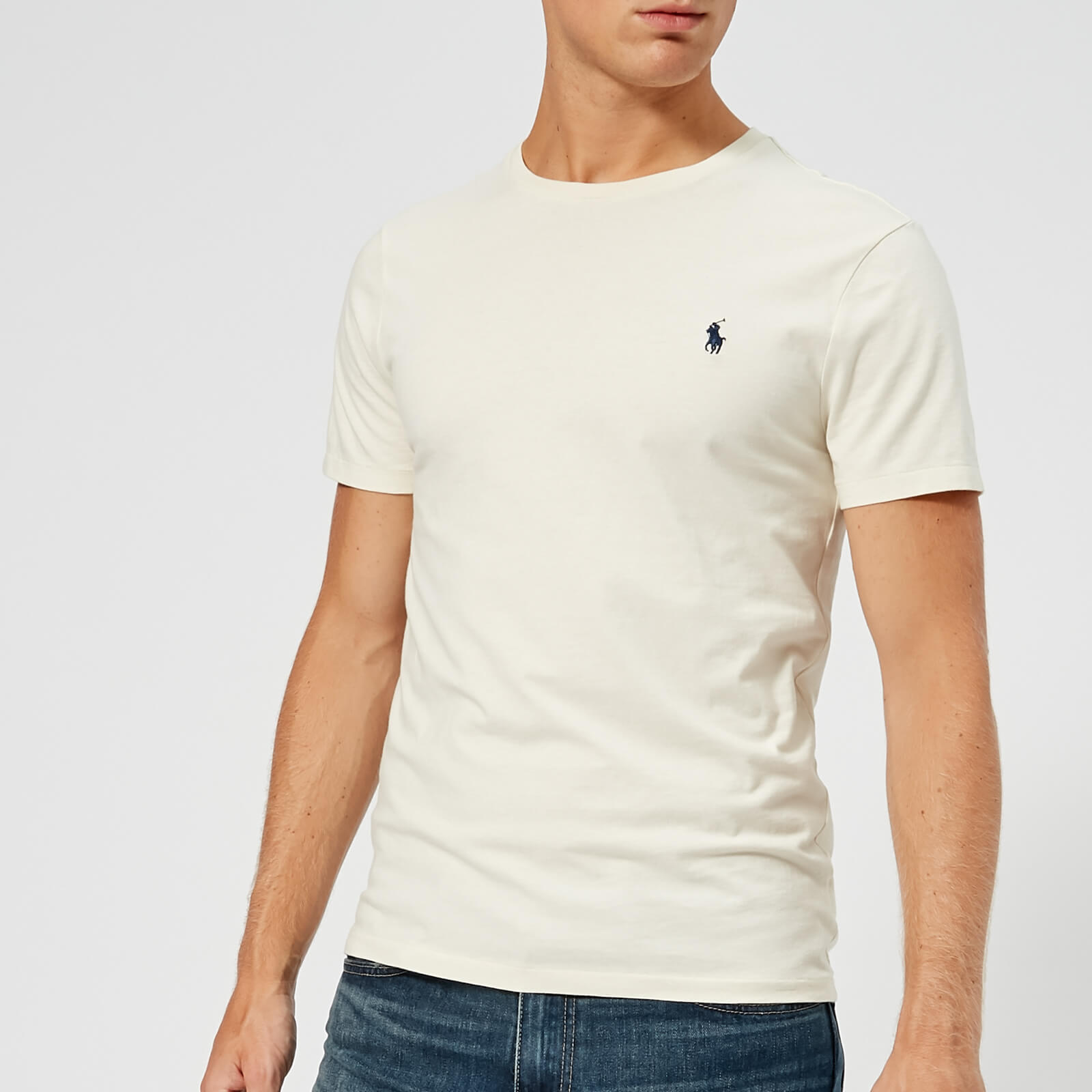 9eb37e50 Polo Ralph Lauren Men's Custom Slim Fit T-Shirt - Chic Cream - Free UK  Delivery over £50