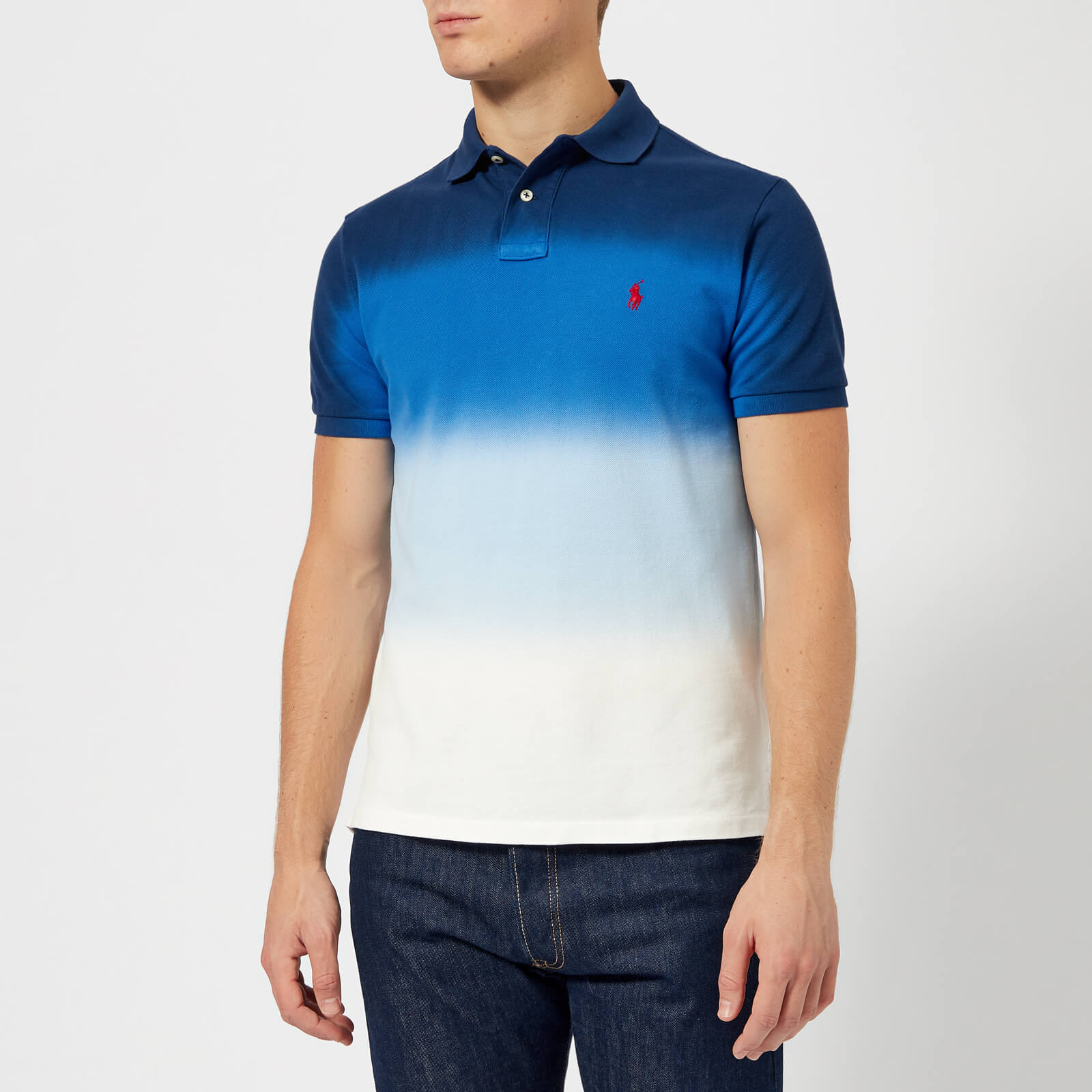 081d476ae Polo Ralph Lauren Men s Dip Dye Polo Shirt - Navy White - Free UK Delivery  over £50