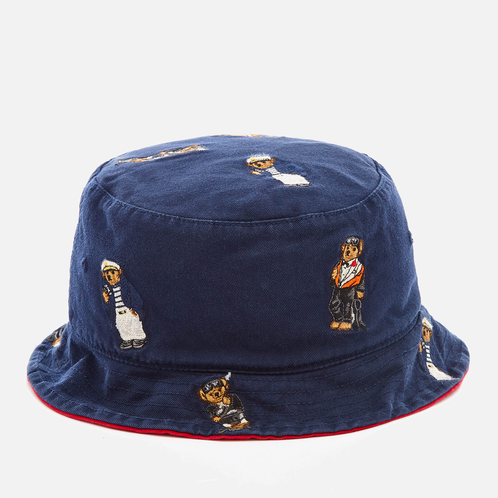 d1ca11032cd7c Polo Ralph Lauren Men s Cotton Chino Bear Bucket Hat - Newport Navy - Free  UK Delivery over £50