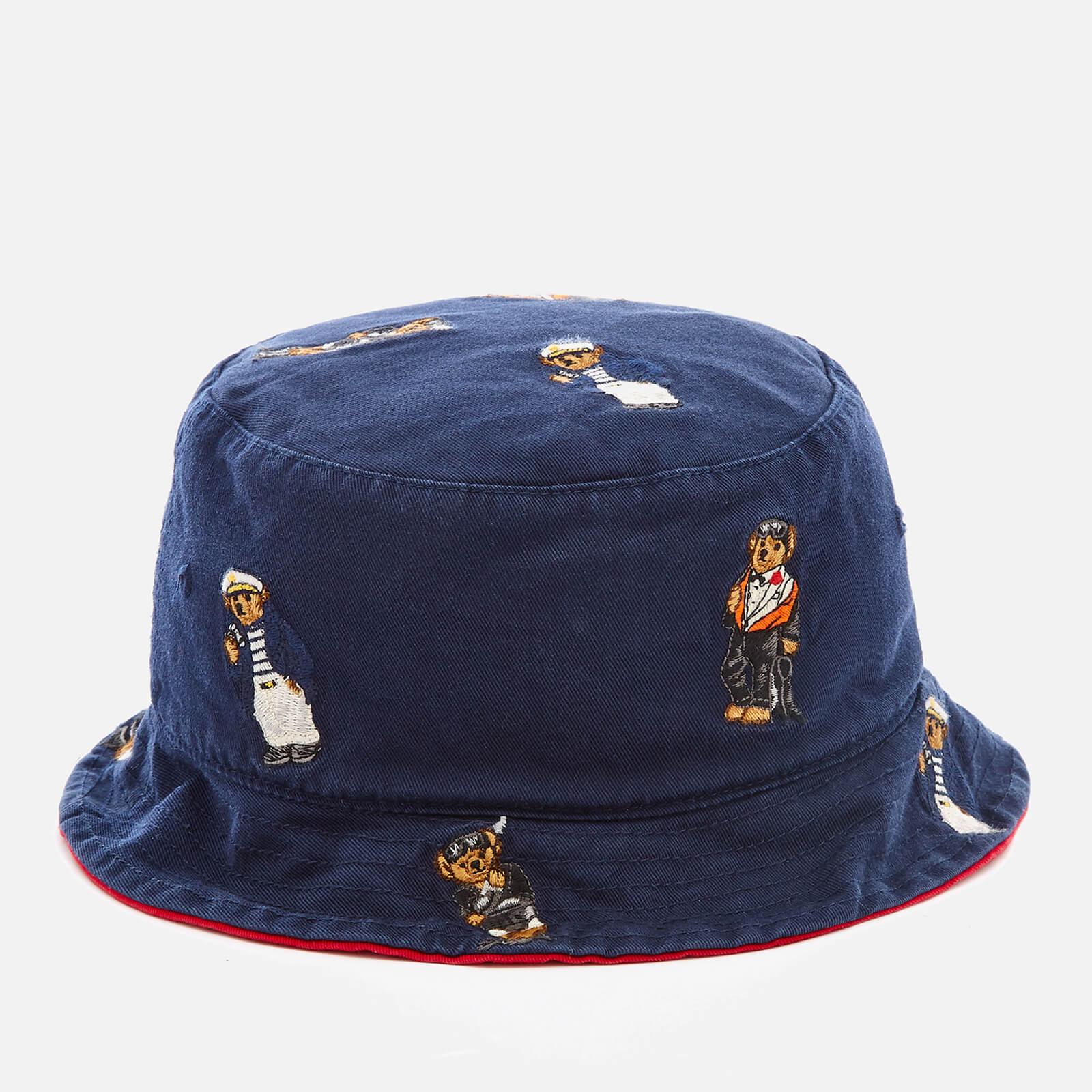 13ffe3de740613 Polo Ralph Lauren Men's Cotton Chino Bear Bucket Hat - Newport Navy - Free  UK Delivery over £50