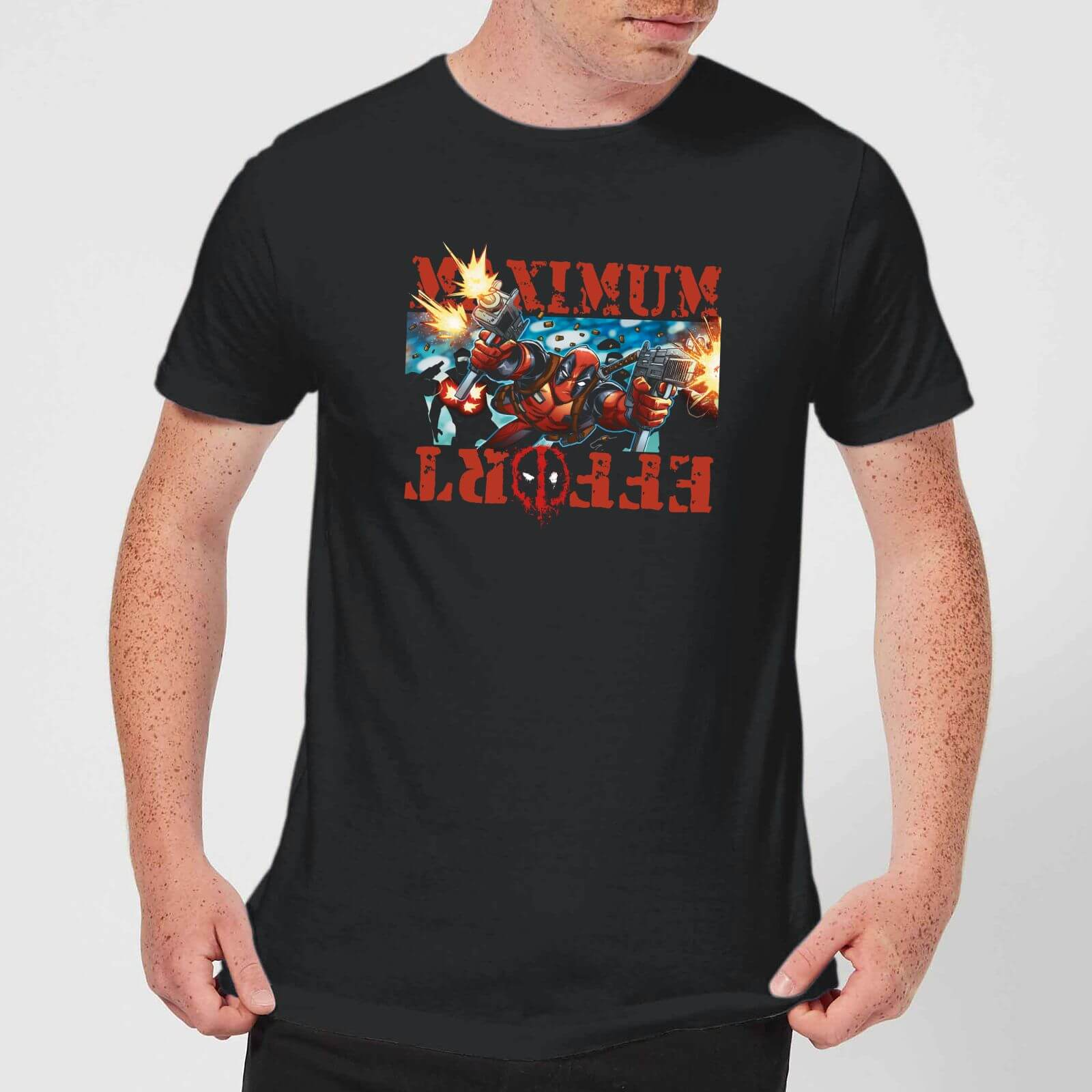 486d72e0 Marvel Deadpool Maximum Effort T-Shirt - Black Clothing | Zavvi