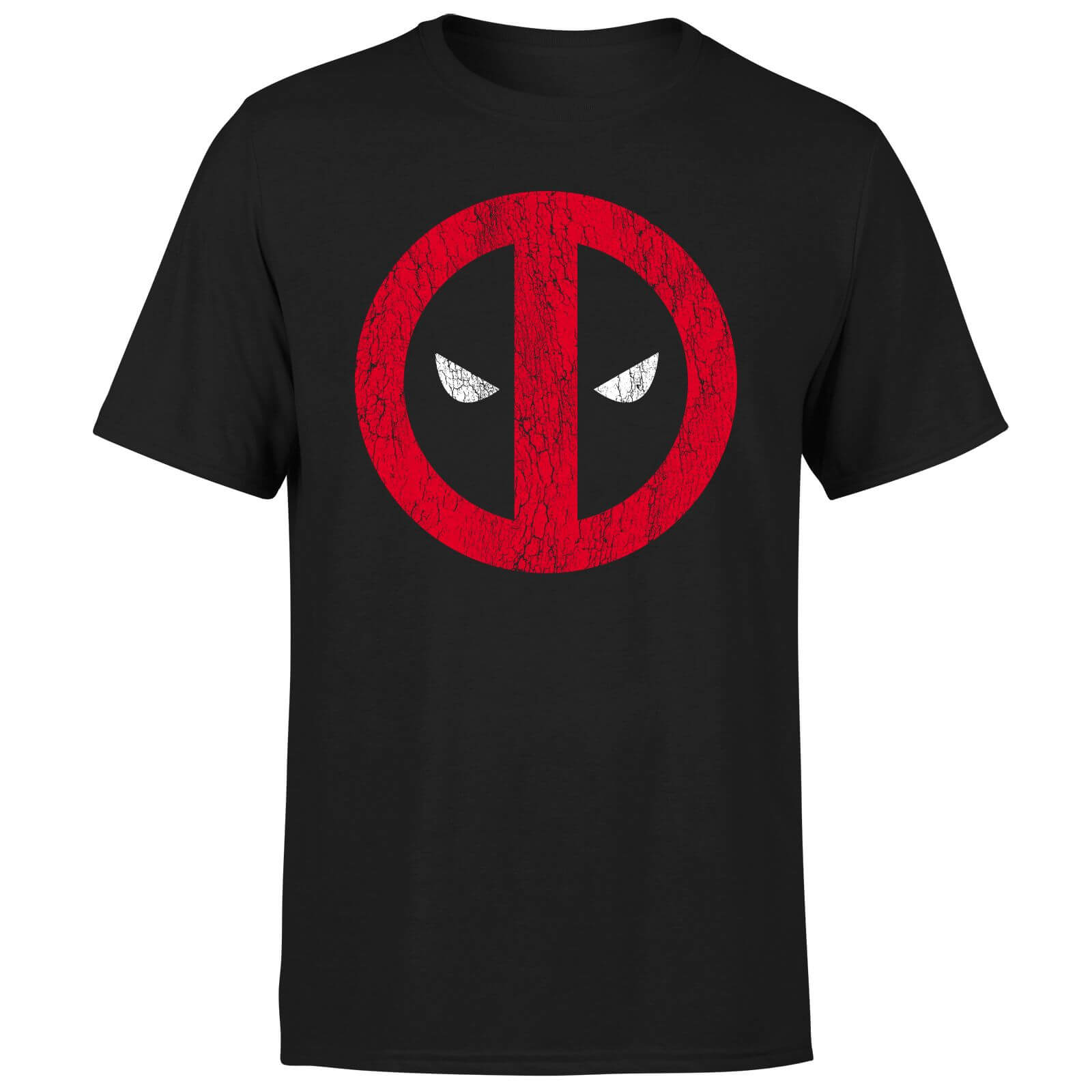 Marvel Deadpool Cracked Logo T-Shirt - Black