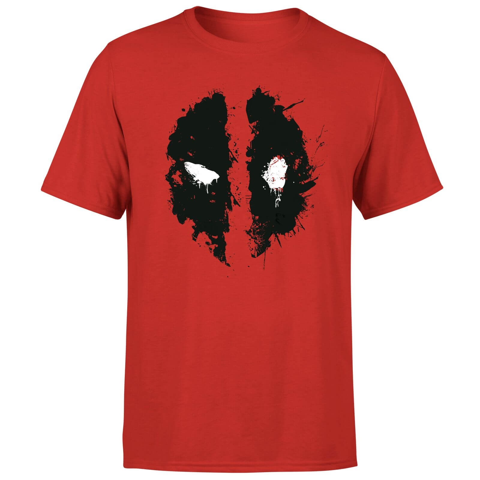 Marvel Deadpool Splat Face T-Shirt - Red