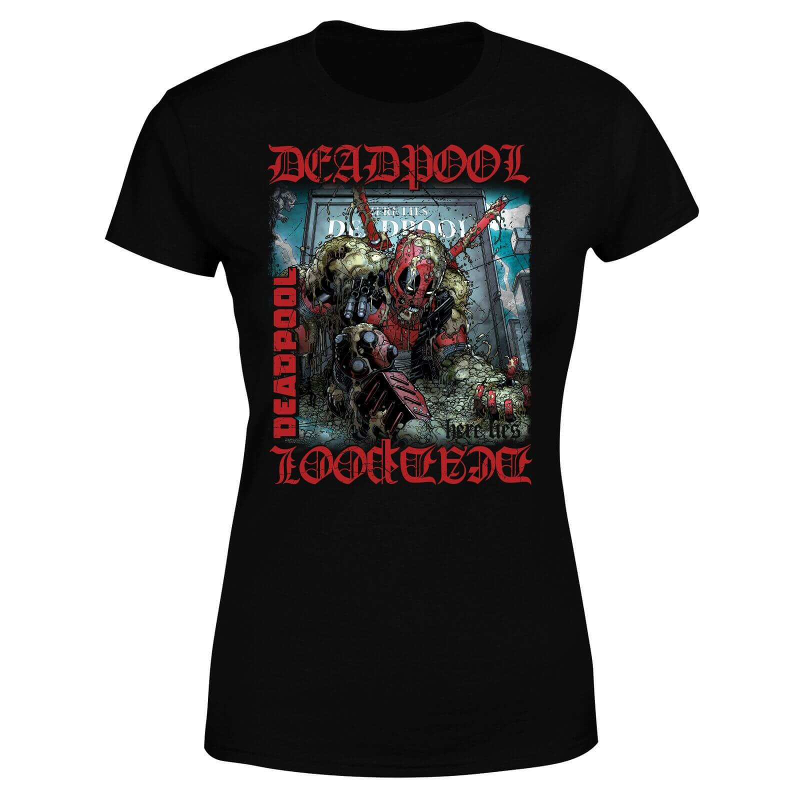 Marvel Deadpool Here Lies Deadpool Women