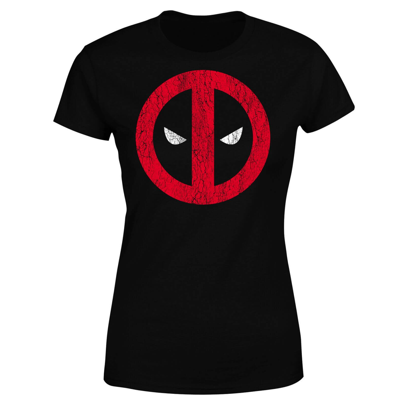 Marvel Deadpool Cracked Logo Women