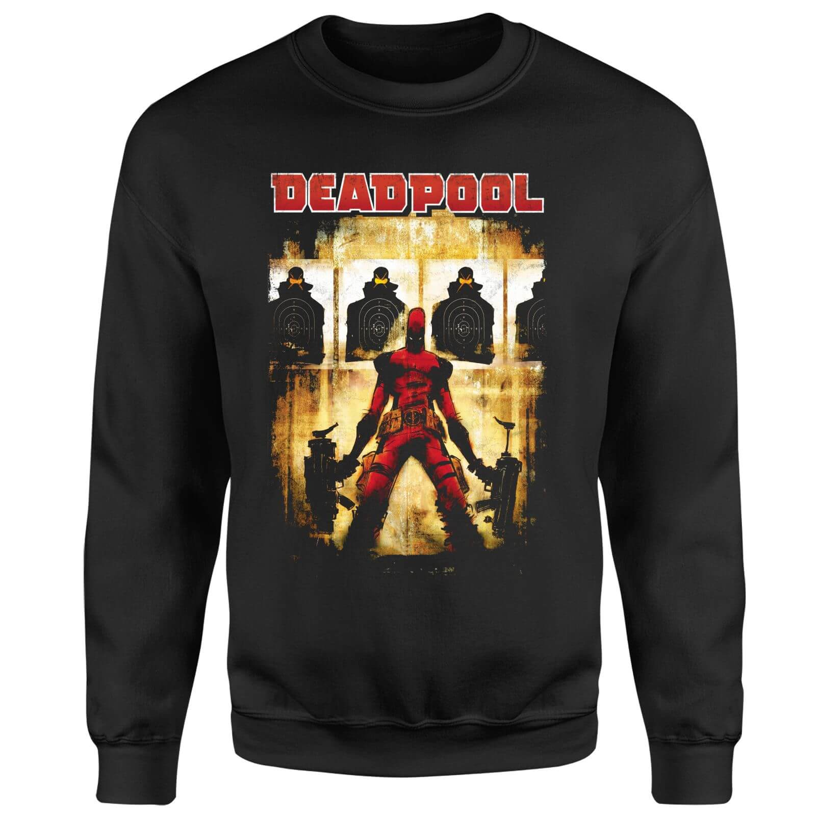 Marvel Deadpool Target Practice Sweatshirt - Black