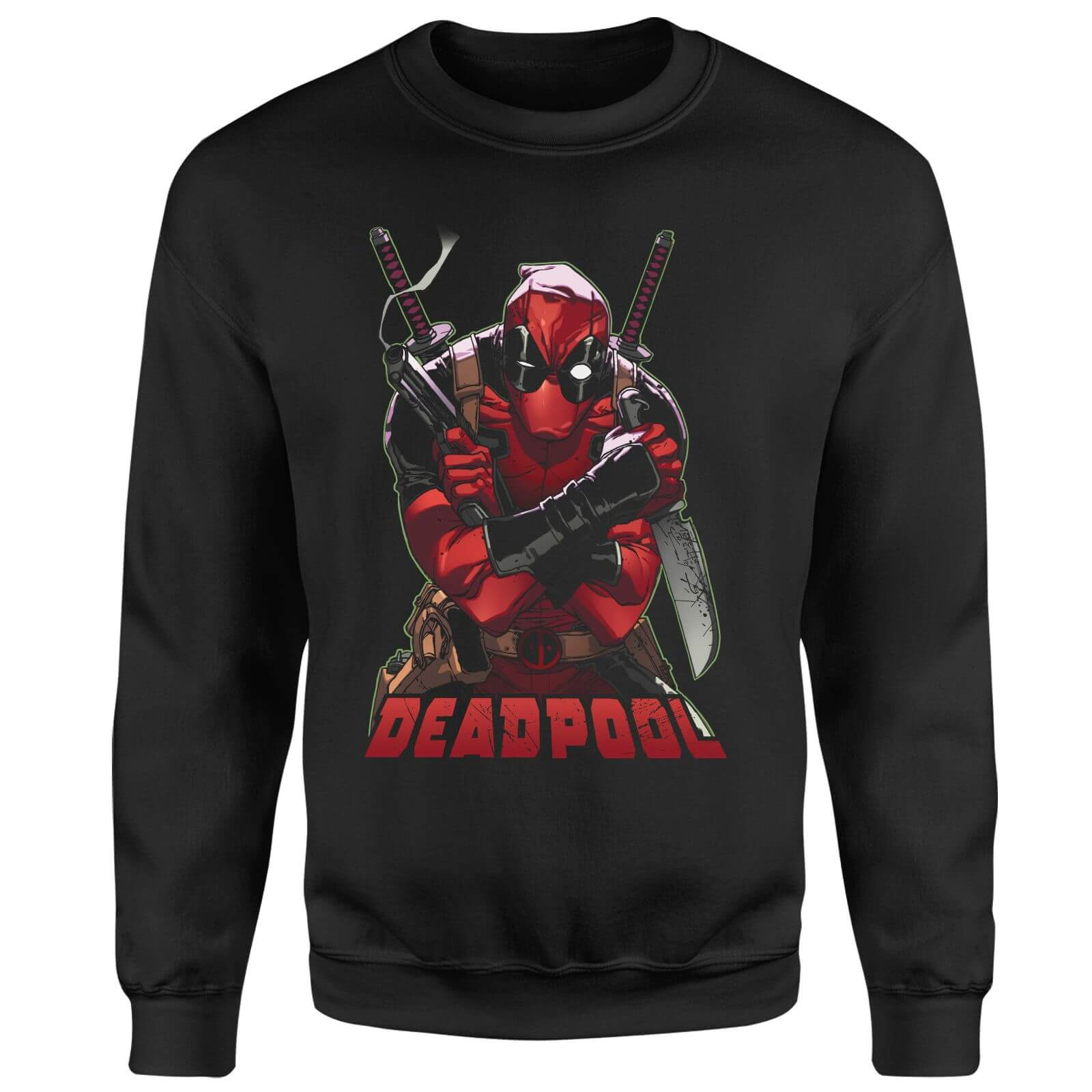Marvel Deadpool Ready For Action Sweatshirt - Black
