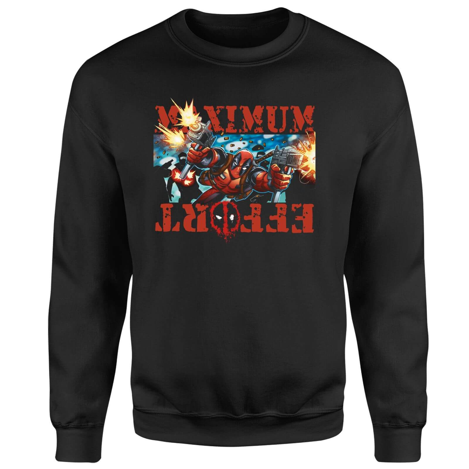 Marvel Deadpool Maximum Effort Sweatshirt - Black