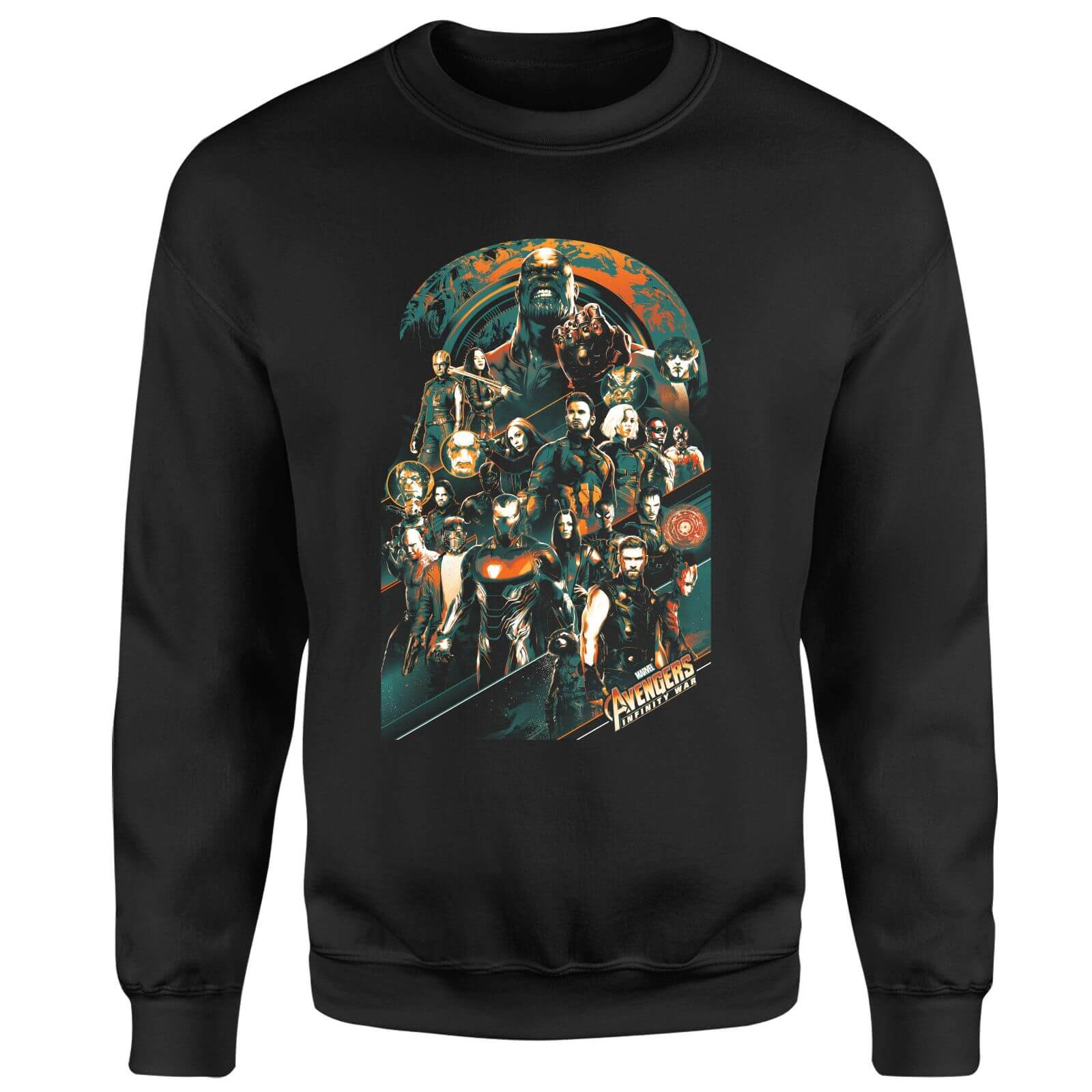Marvel Avengers Infinity War Avengers Team Sweatshirt - Black