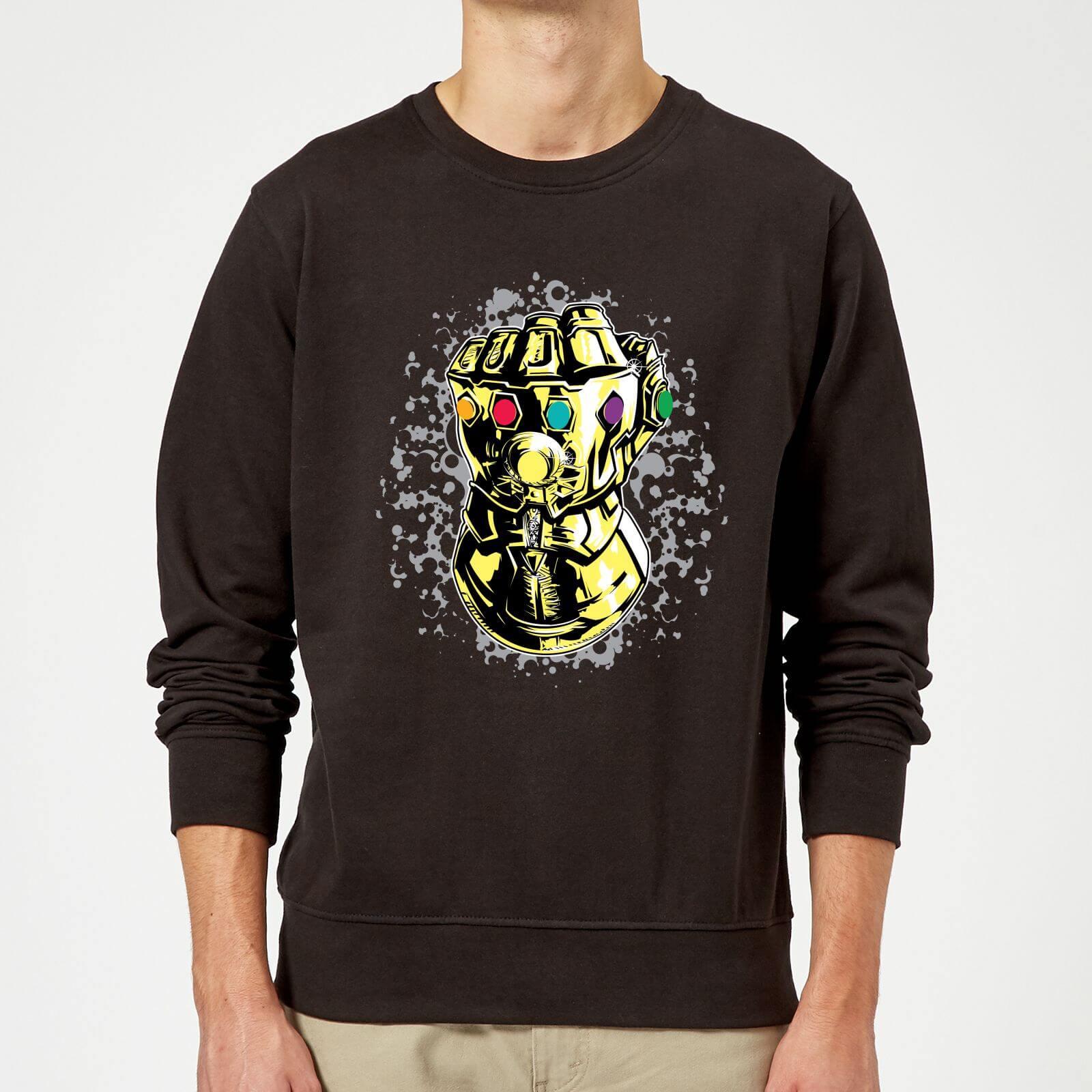 8ecb283454da Marvel Avengers Infinity War Fist Comic Sweatshirt - Black Clothing   Zavvi  US