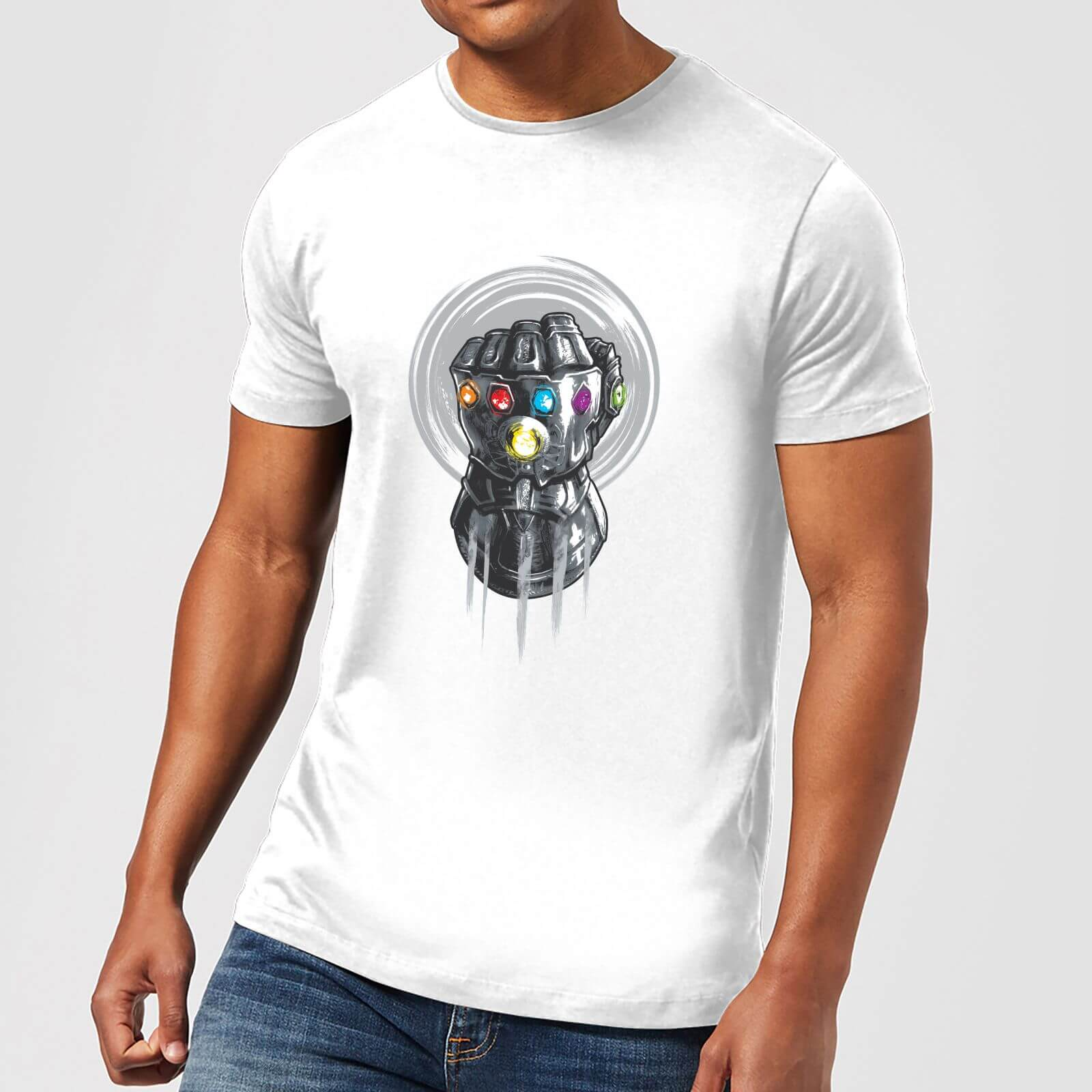 popular design purchase original official shop Marvel Avengers Infinity War Thanos Infinite Power Fist T-Shirt - White