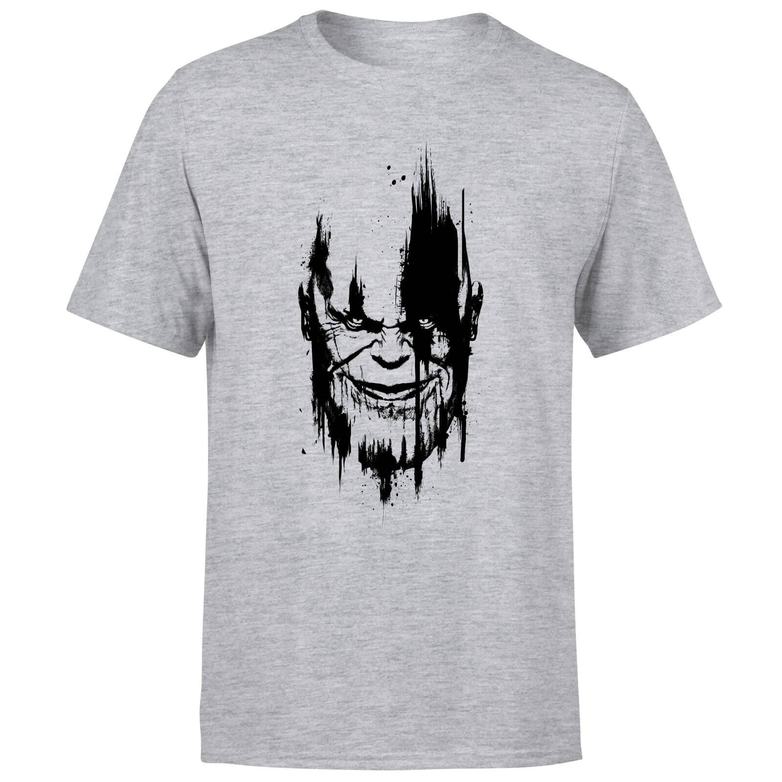 Marvel Avengers Infinity War Thanos Face T-Shirt - Grey