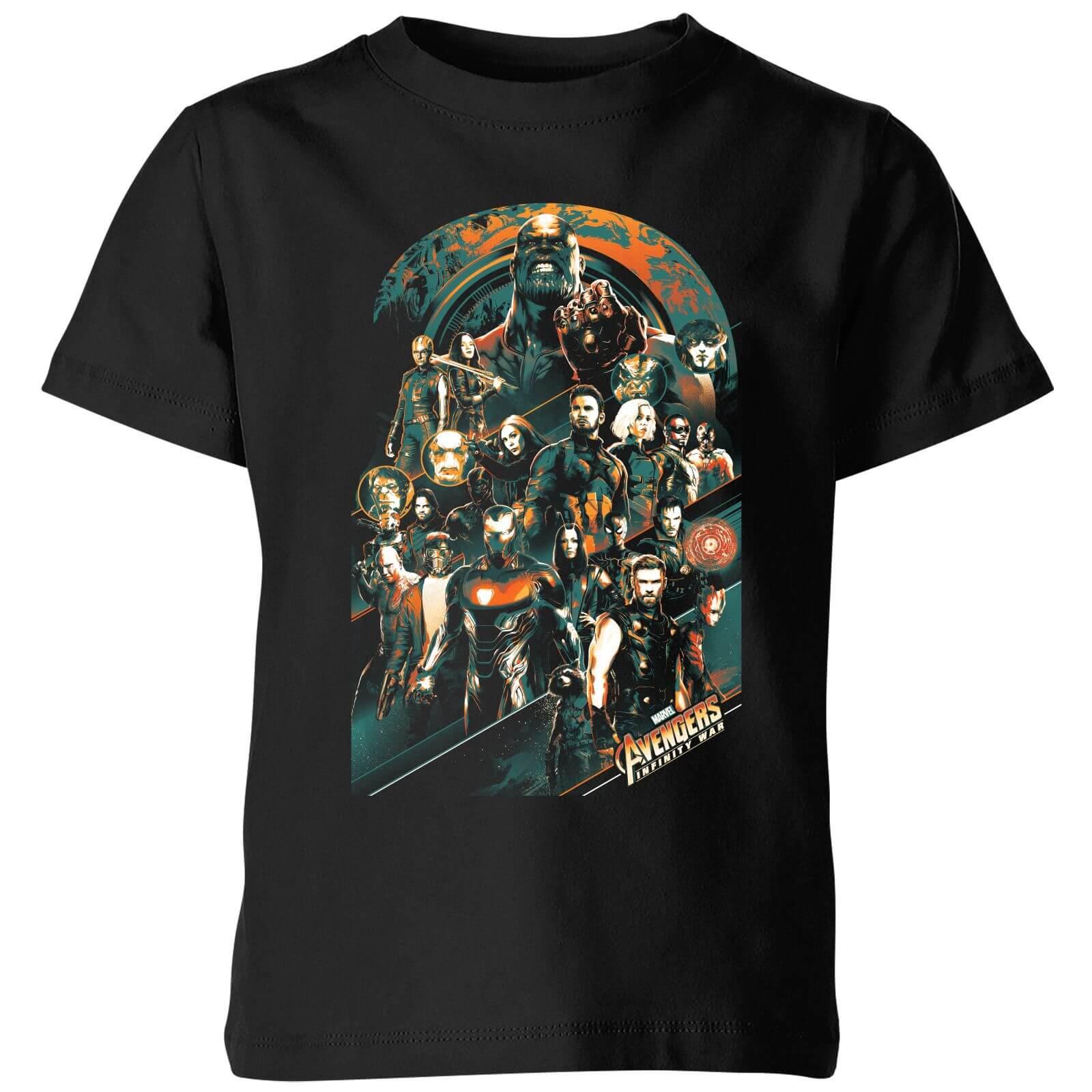 3624dc27 Marvel Avengers Infinity War Avengers Team Kids' T-Shirt - Black Clothing    Zavvi