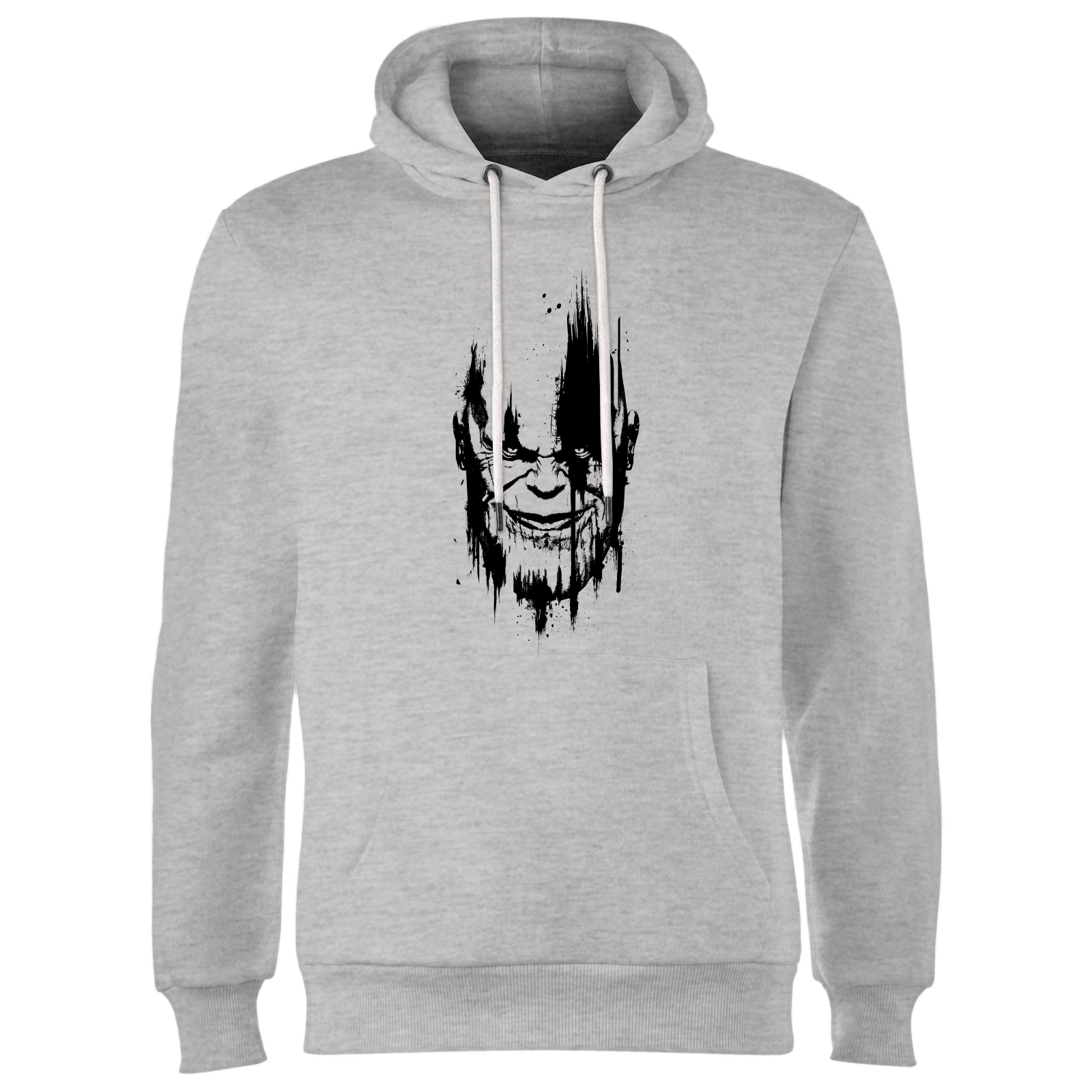Marvel Avengers Infinity War Thanos Face Hoodie - Grey