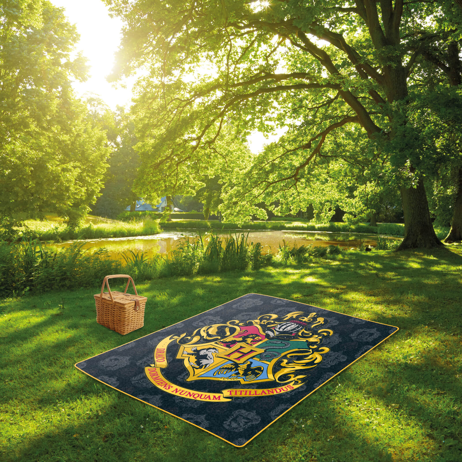 Harry Potter Hogwarts Crest Picnic Blanket Iwoot