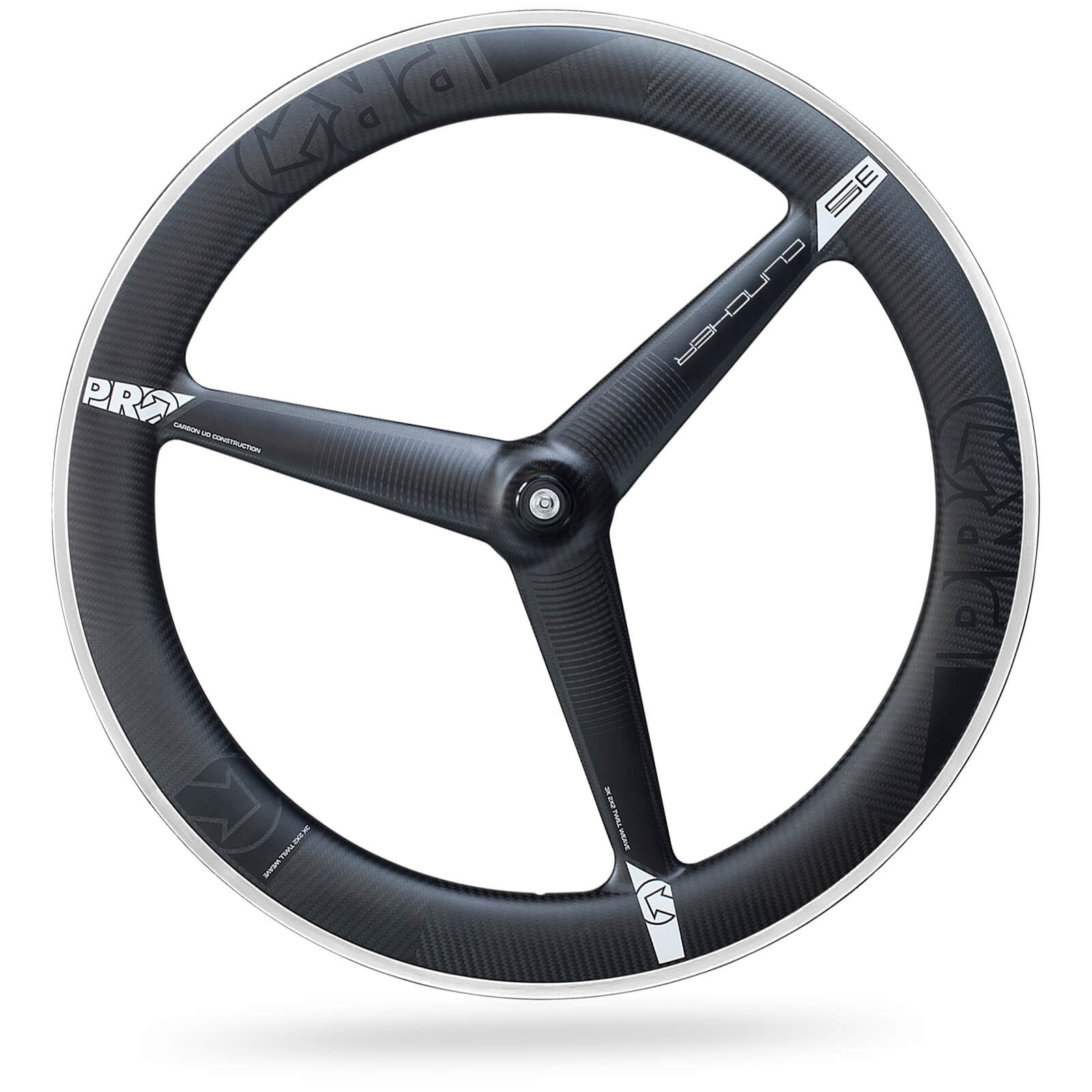 PRO Carbon Clincher 3 Spoke Front Wheel