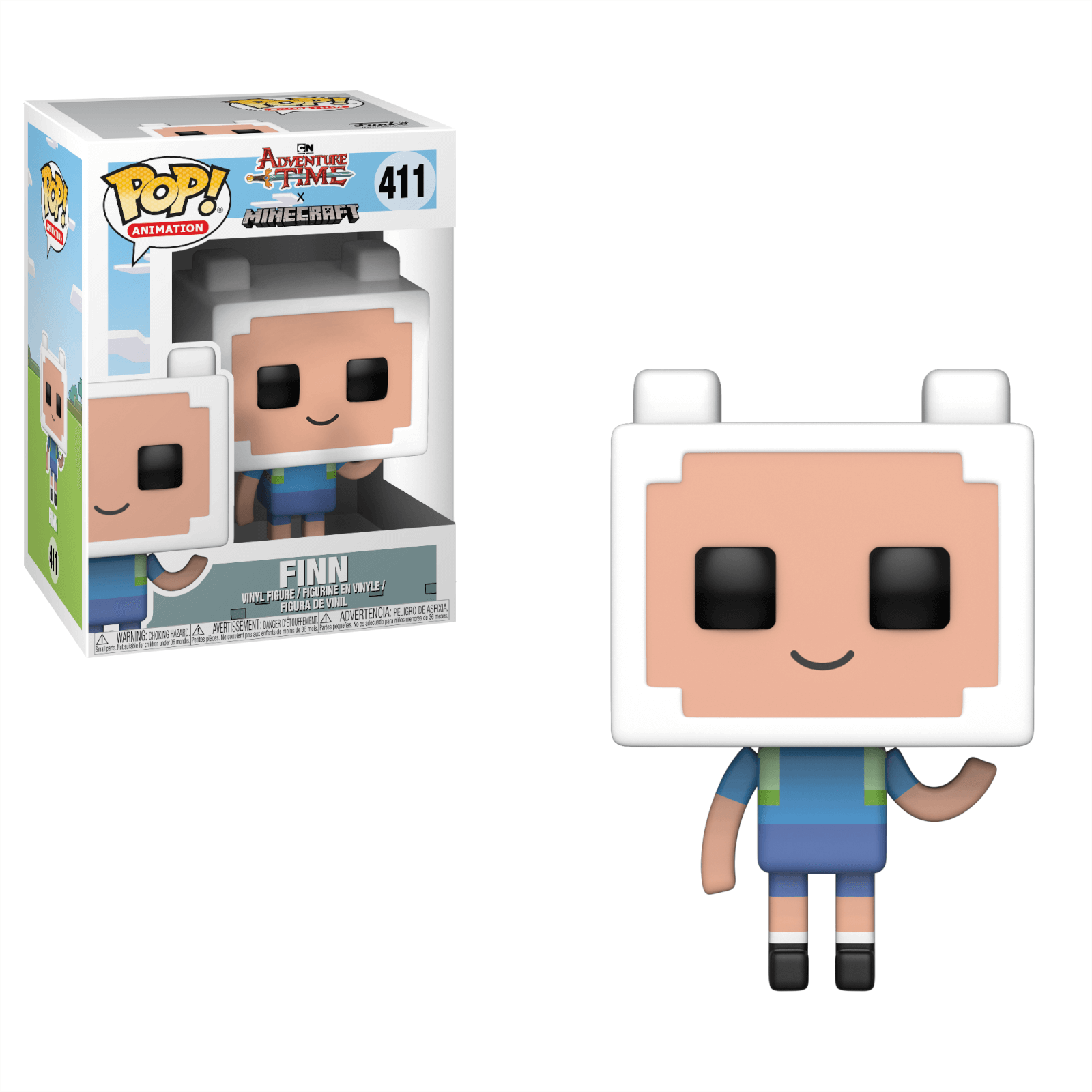 Adventure Time X Minecraft Finn Pop Vinyl Figure Pop In A Box Us