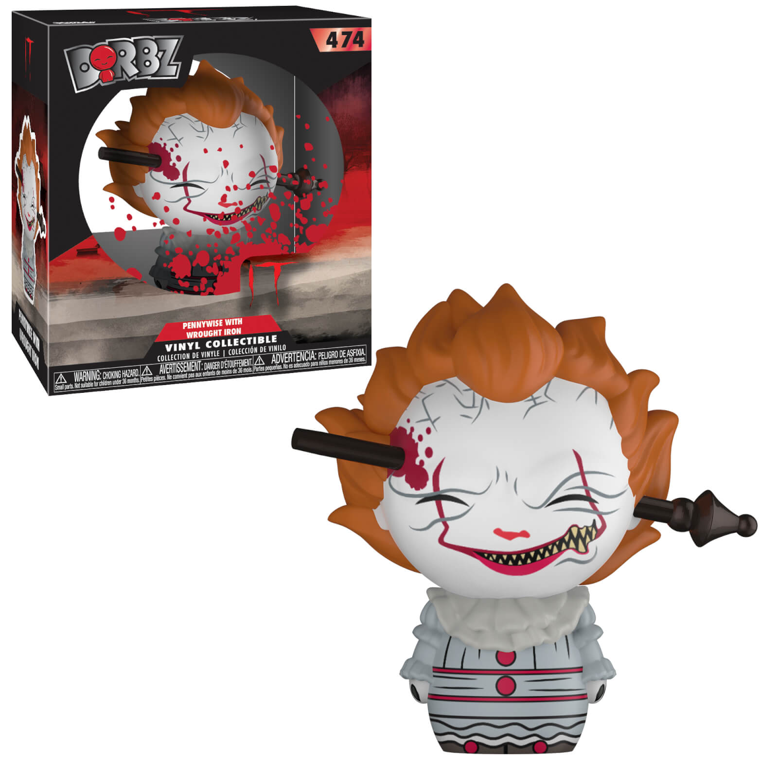 IT Pennywise with Wrought Iron Dorbz Vinyl Figure