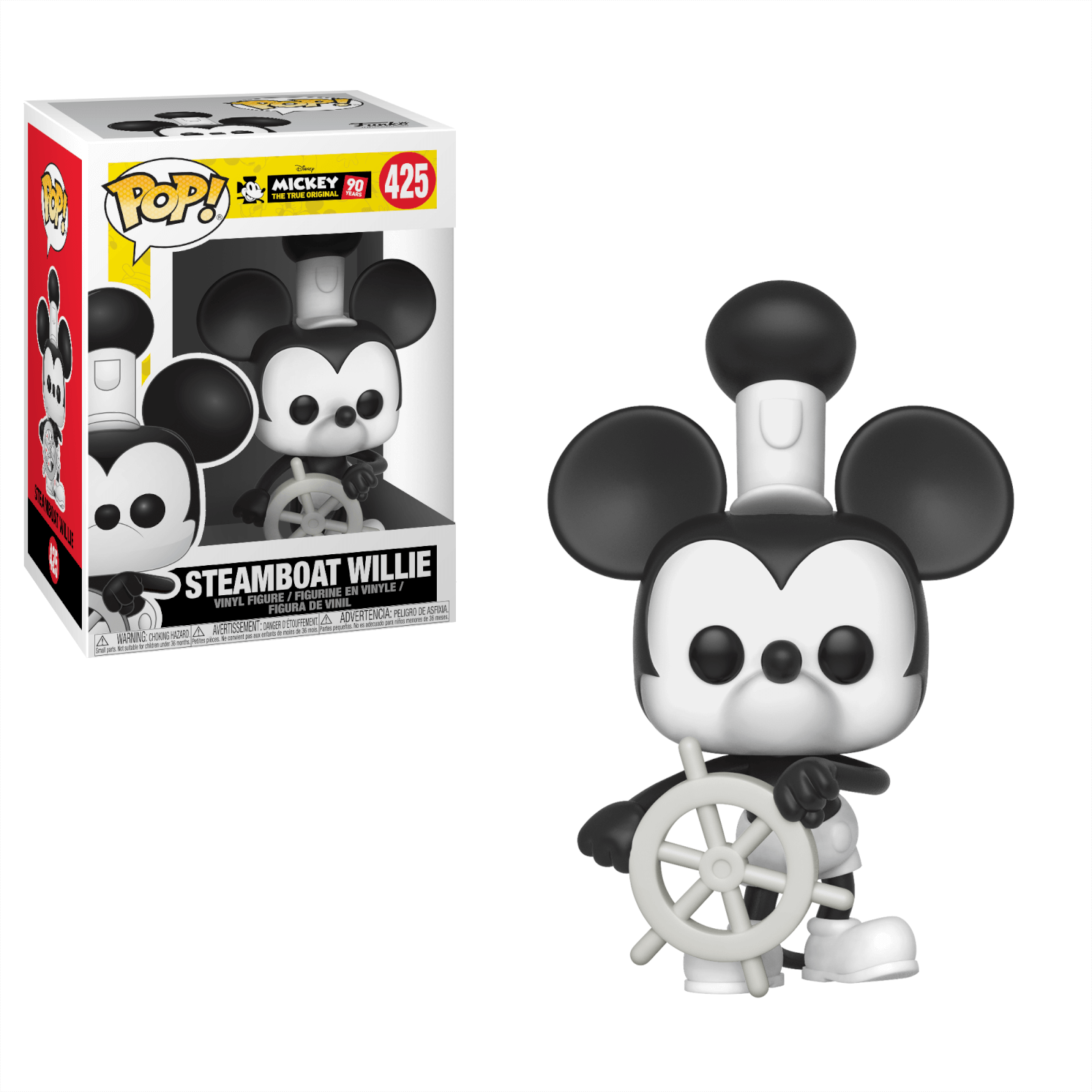 Steamboat Willie Disney Mickey/'s 90th Funko Pop