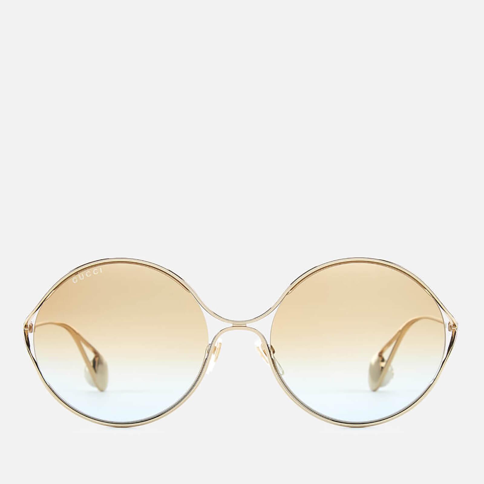 6975f1f38e1 Gucci Women s Round Frame Sunglasses - Gold Multicolour - Free UK Delivery  over £50
