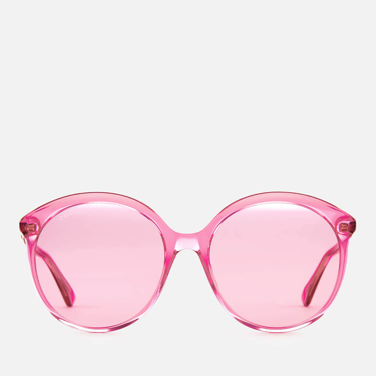 67ed6ddcf4 Gucci Women s Polarised Round Frame Sunglasses - Fuchsia - Free UK Delivery  over £50