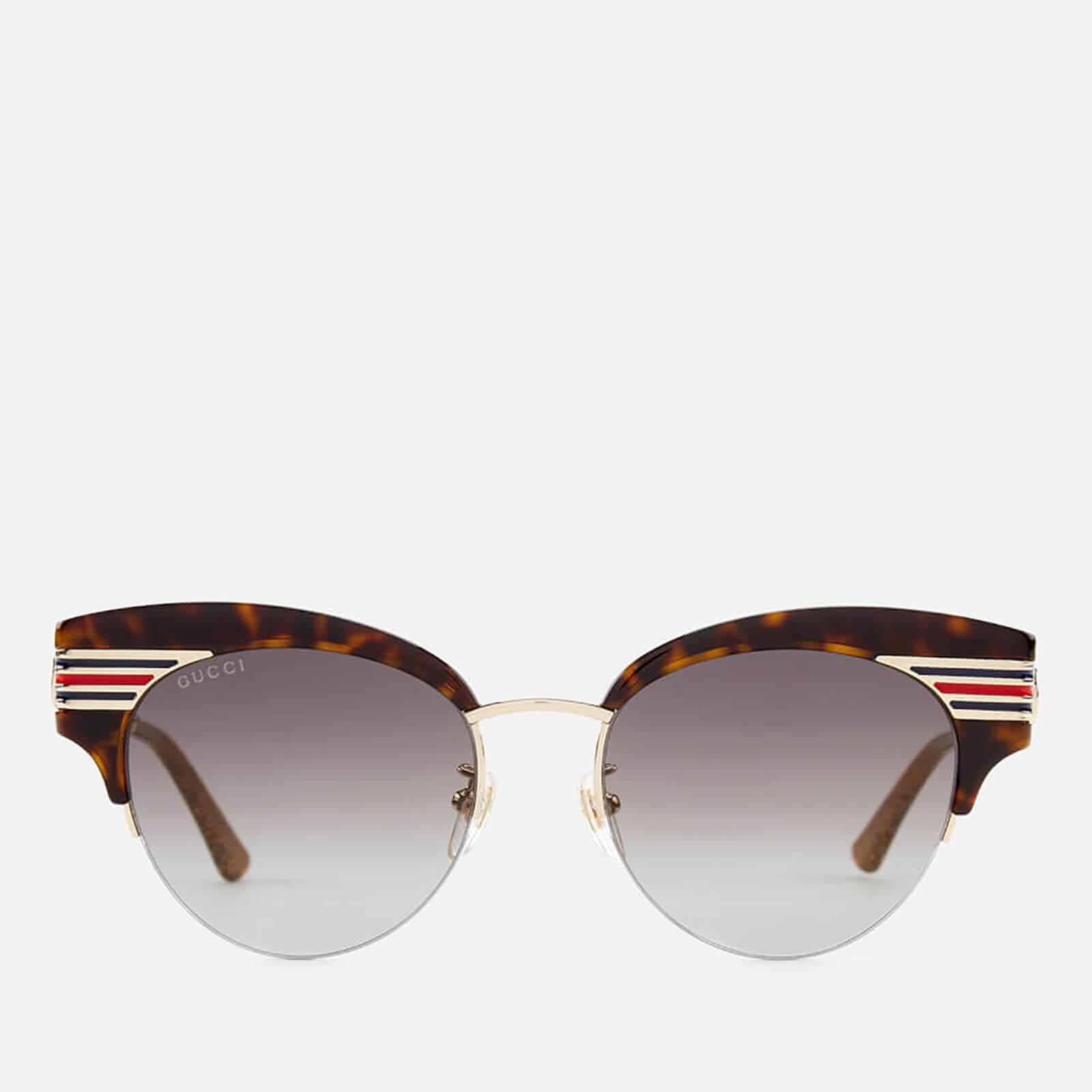 9fa7bae6b0 Gucci Women s Cat Eye Sunglasses - Havana Gold Brown - Free UK Delivery over  £50