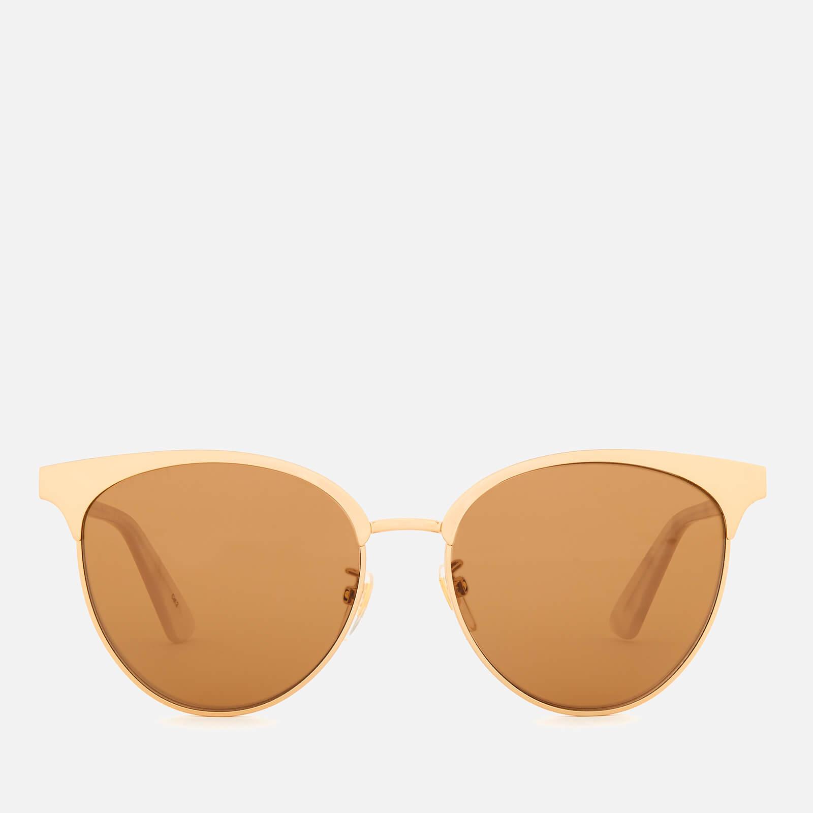 1074541f886f89 Gucci Women s Tri Colour Sunglasses - Gold White Brown - Free UK Delivery  over £50