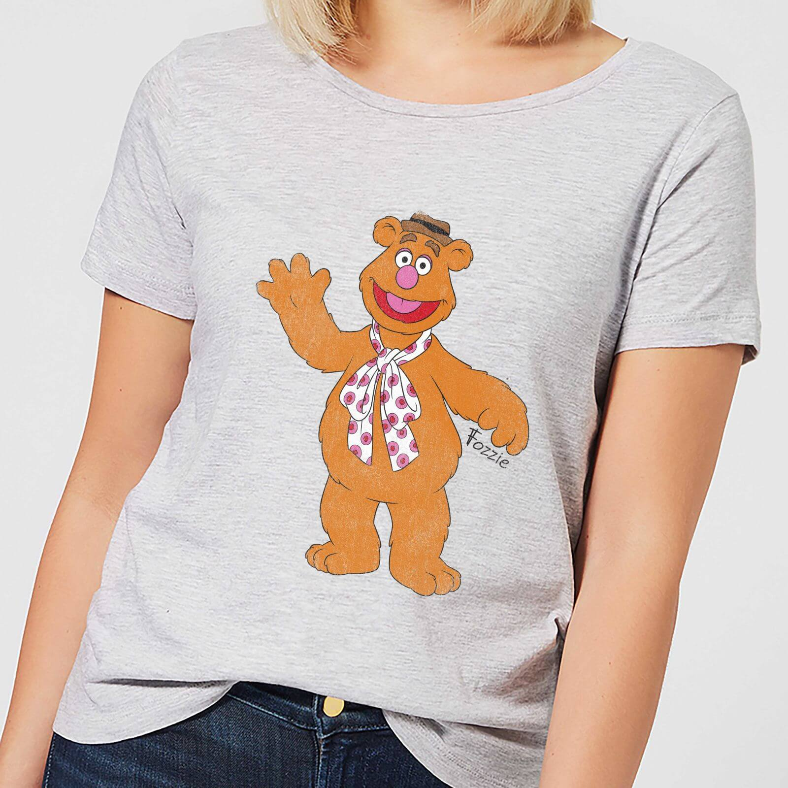 Disney Muppets Fozzie Bear Classic Womens T Shirt Grey Clothing Cardinal Girl Navy Xl Description