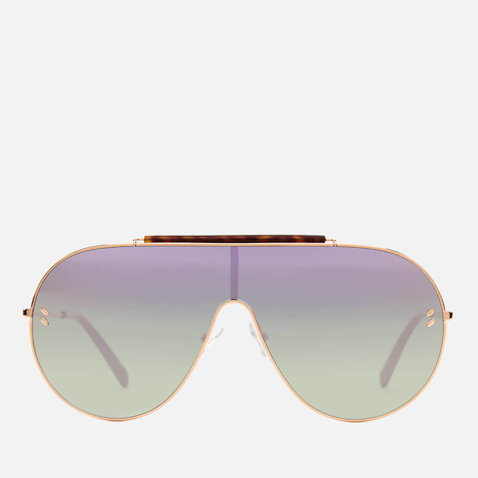 b0ba2c0ab0d9 Stella McCartney Women's Large Aviator Sunglasses - Gold/Pink - Free UK  Delivery over £50