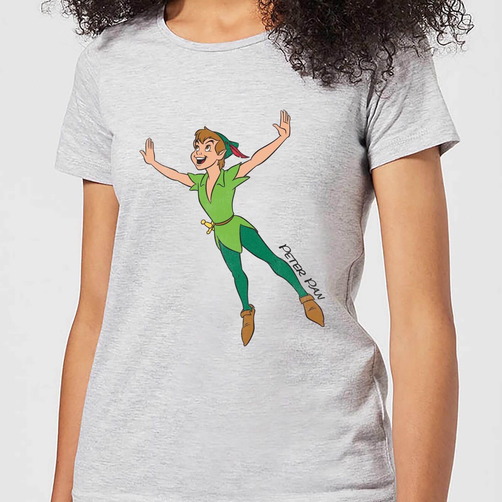 Disney Peter Pan Flying Womens T Shirt Grey Clothing Zavvi