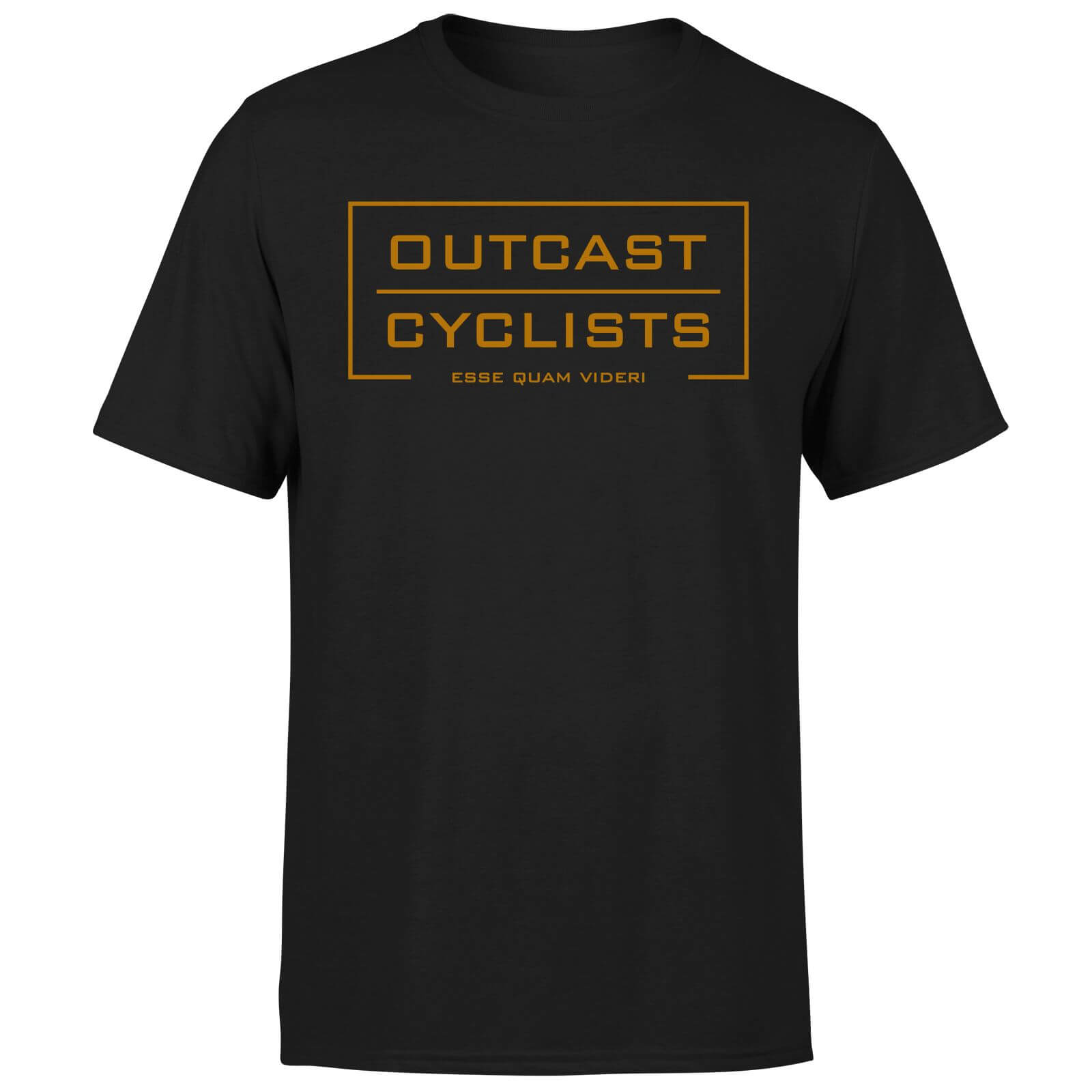 Outcast Cyclists Chest Logo T-Shirt - Black