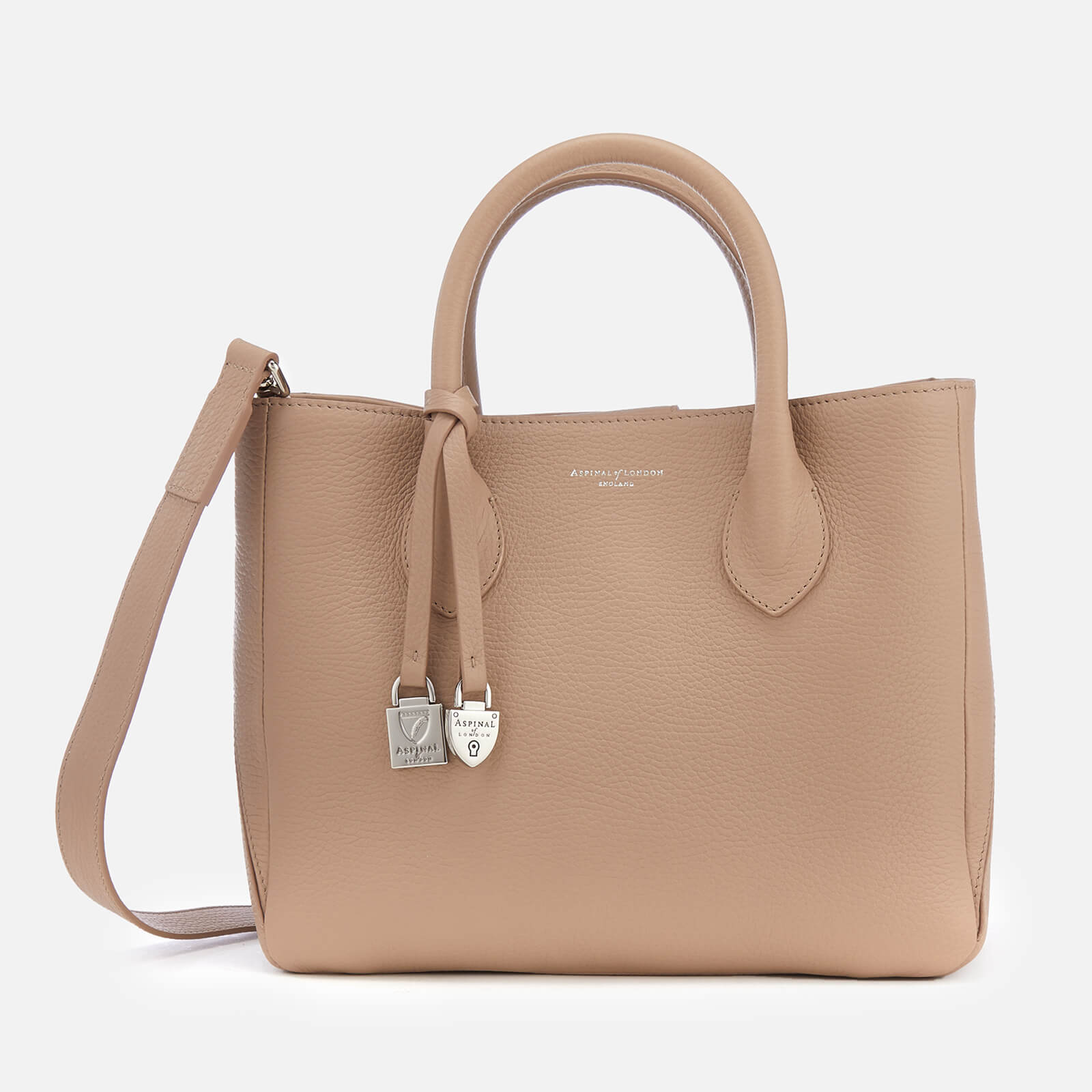 c3ac90f00bfb0 Aspinal of London Women s Small London Tote Bag - Soft Taupe - Free UK  Delivery over £50