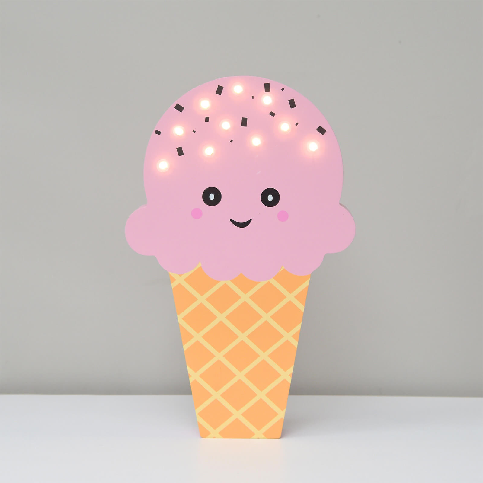 Smiling Faces Up in Lights - Pink Ice Cream