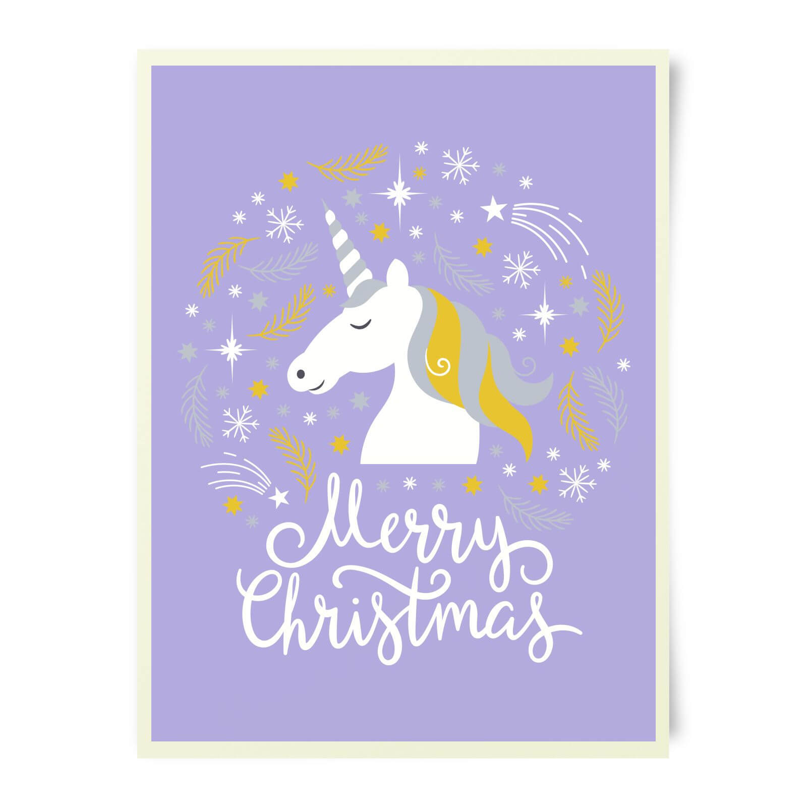 Unicorn Christmas Art Print