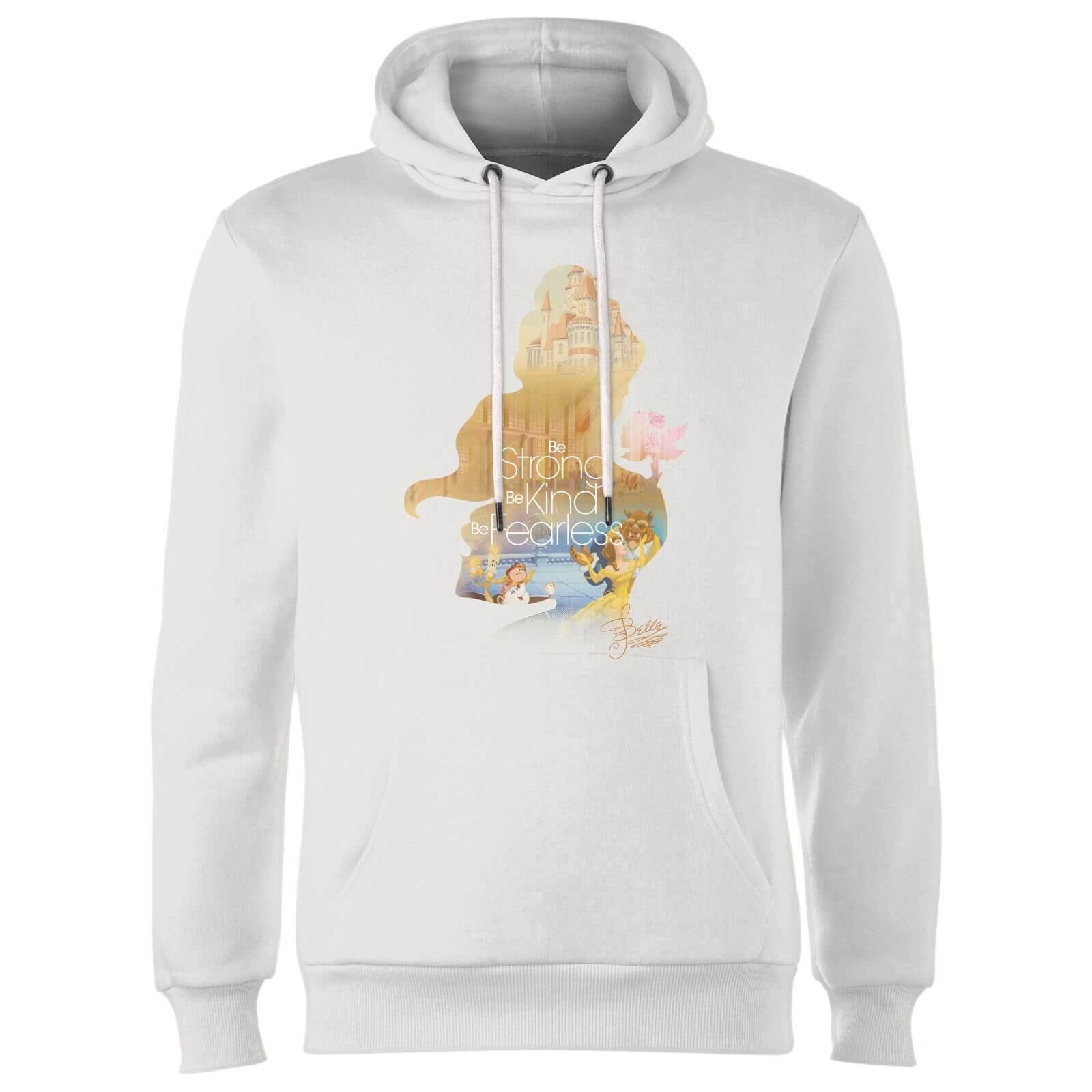 Disney Princess Filled Silhouette Belle Hoodie - White