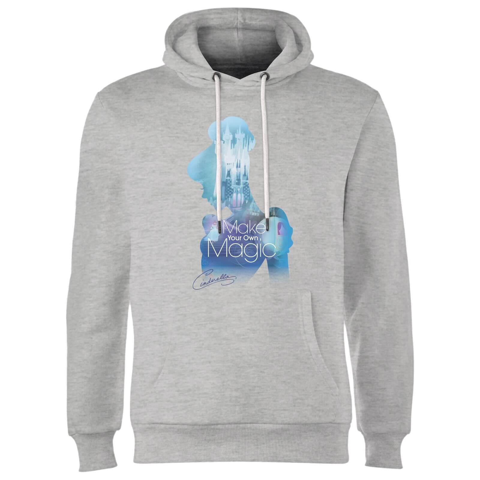 Disney Princess Filled Silhouette Cinderella Hoodie - Grey