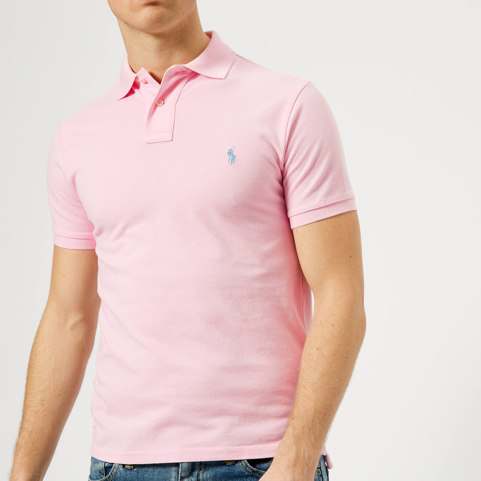 6326d781b Polo Ralph Lauren Men's Slim Fit Polo Shirt - Pink - Free UK Delivery over  £50