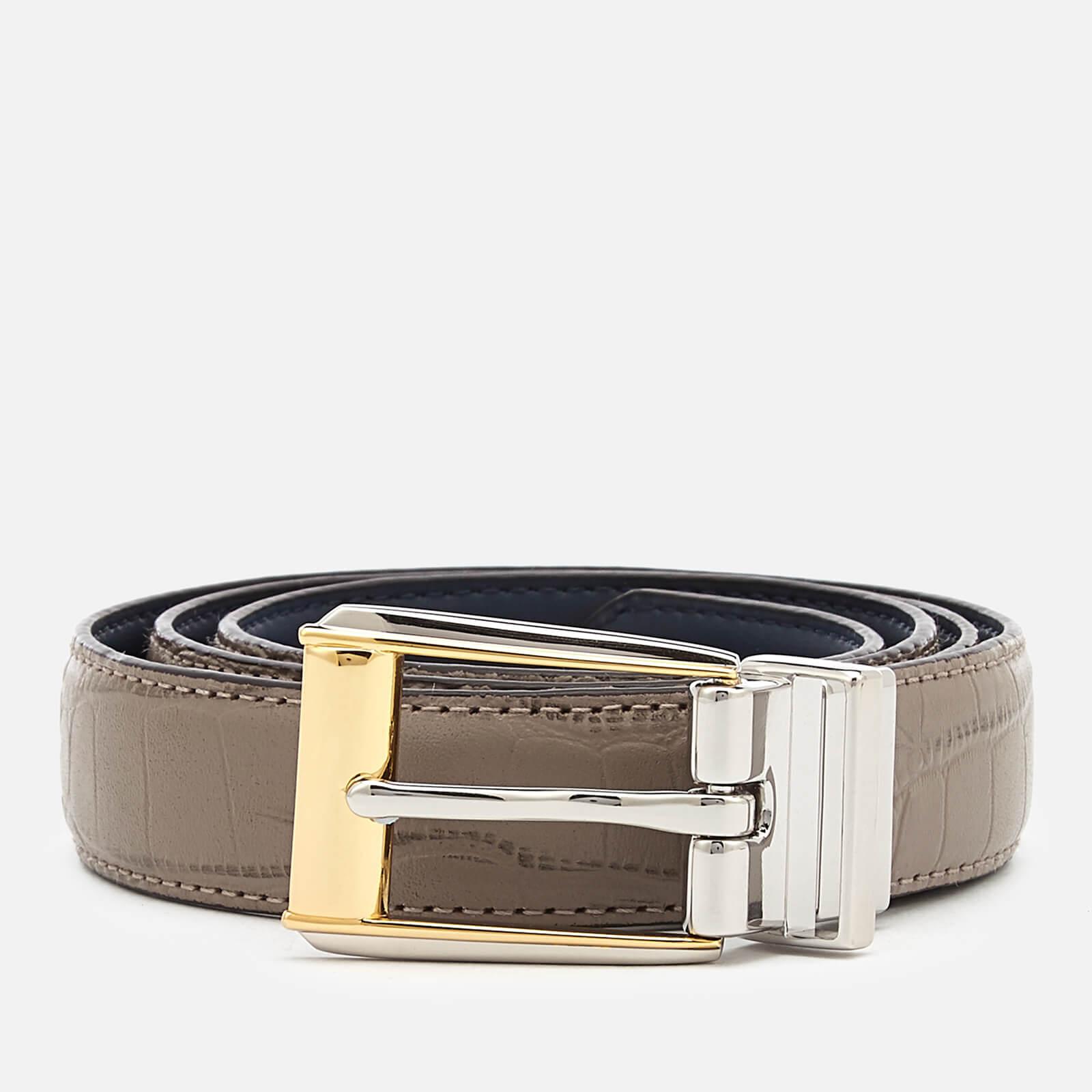 defc1714c Lauren Ralph Lauren Women's 3/4 Reversible Skinny Belt - Taupe/Navy