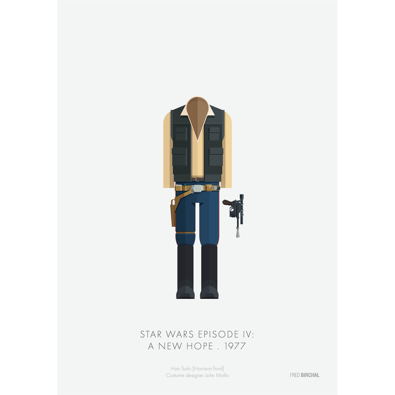 Star Wars A New Hope Han Solo Print