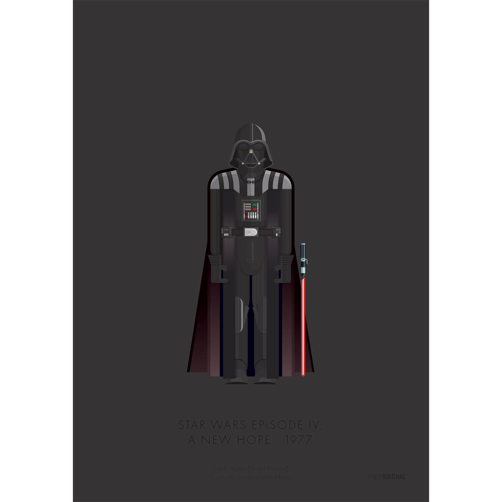 Star Wars A New Hope Vader Print