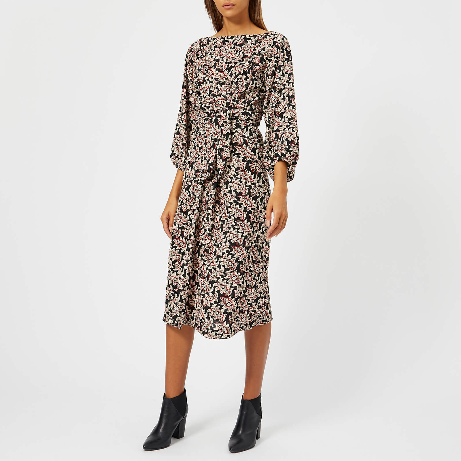 8d844a5556 Isabel Marant Étoile Women's Lisa Floral Dress - Red/Black - Free UK  Delivery over £50