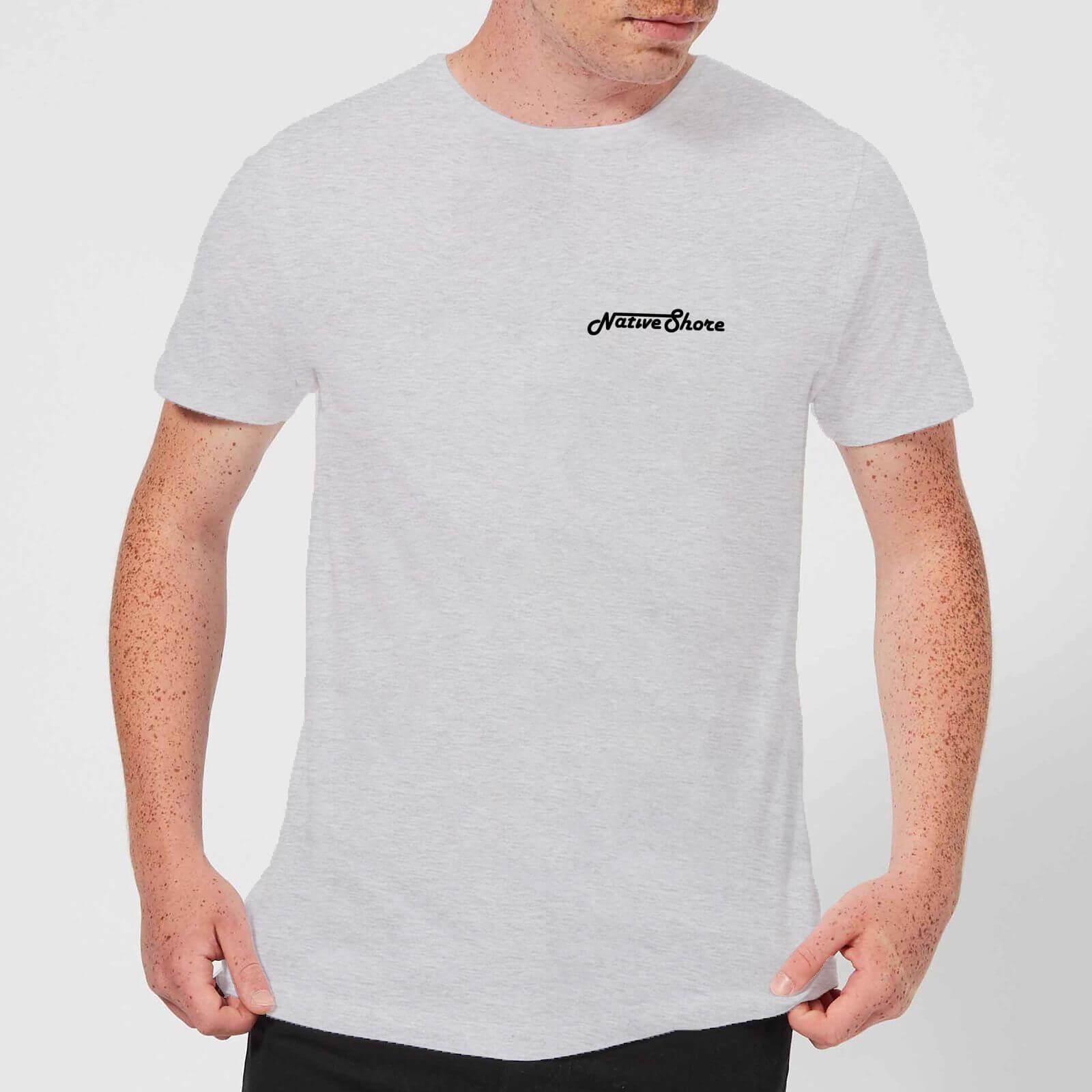 Native Shore Mens Original Shore T Shirt Grey Clothing Zavvi Us